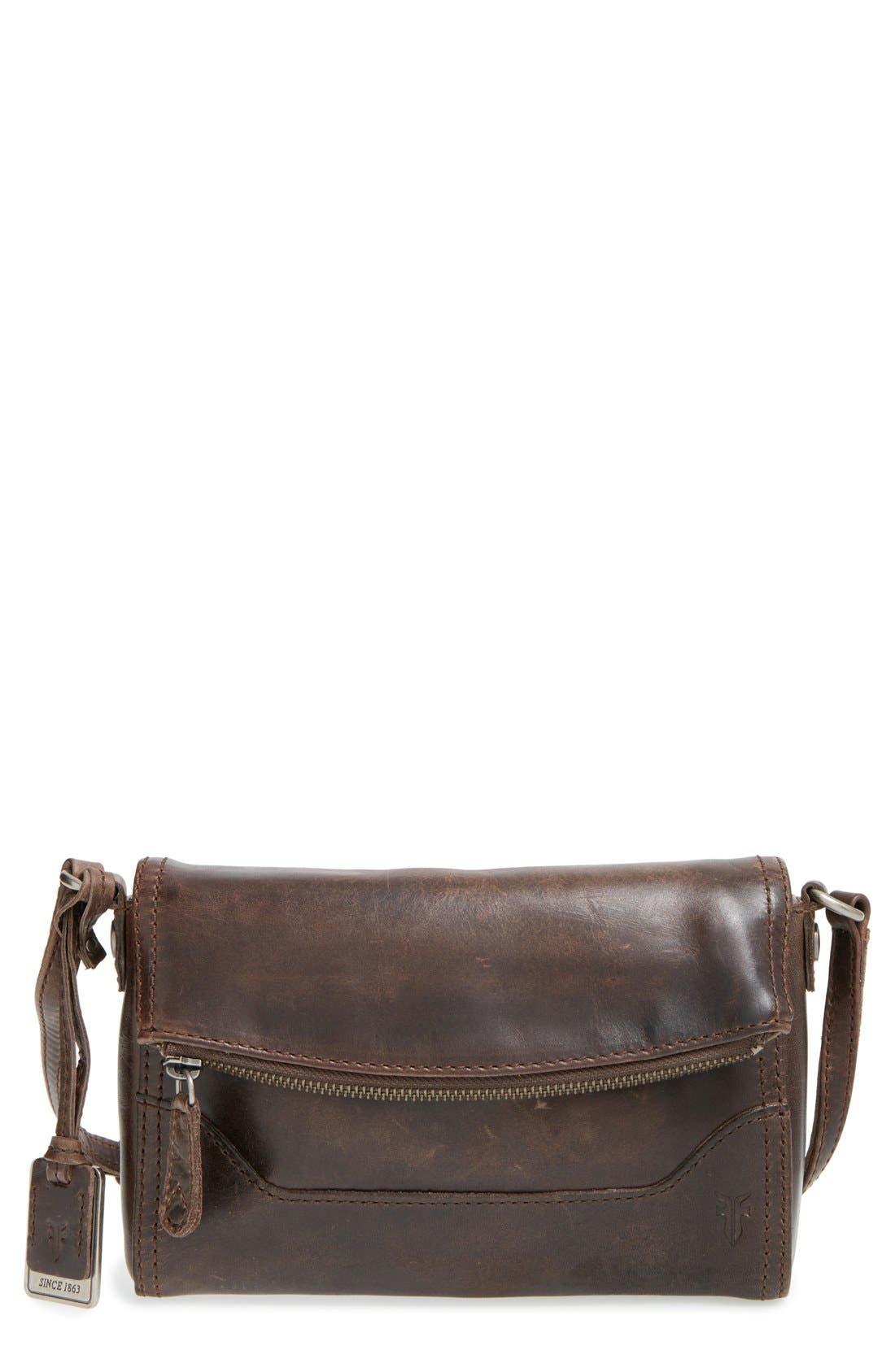 'Melissa' Foldover Flap Crossbody Bag,                             Main thumbnail 1, color,                             020