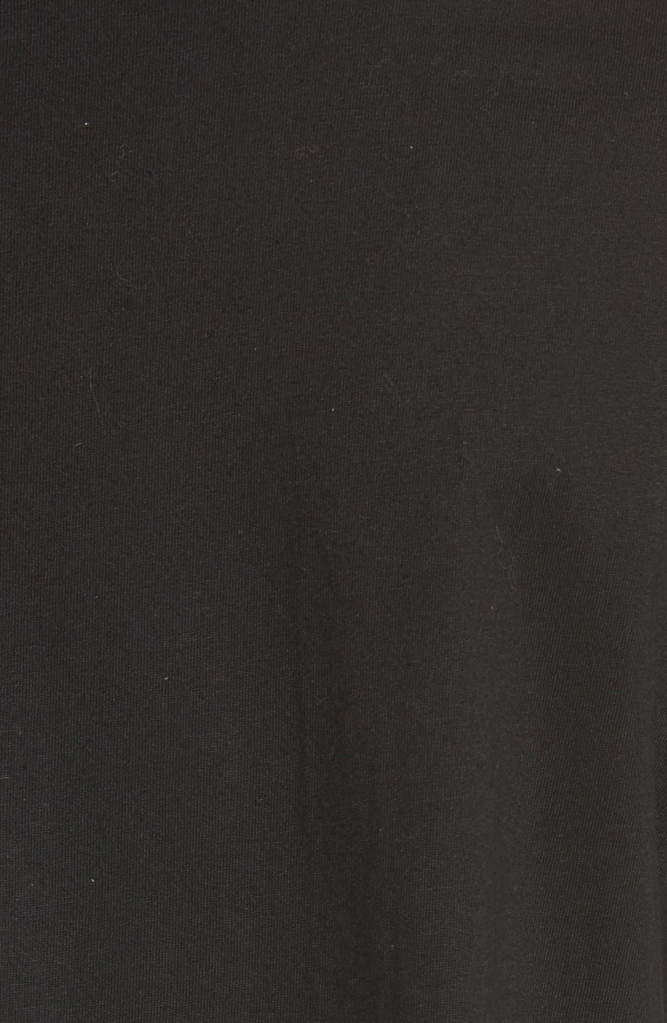 Zip Pocket T-Shirt,                             Alternate thumbnail 5, color,                             BLACK