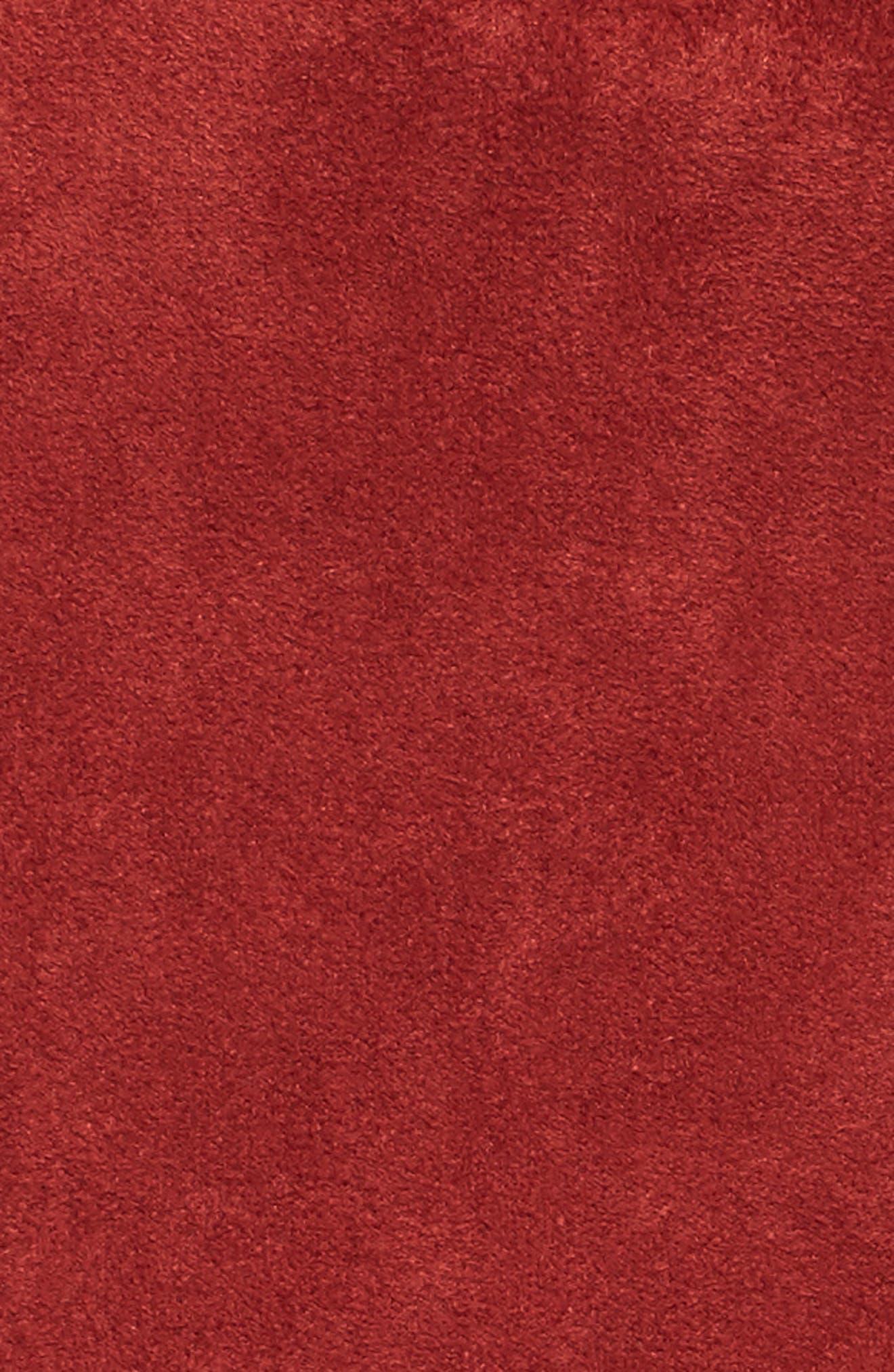 Faux Suede Ruffle Miniskirt,                             Alternate thumbnail 5, color,                             200