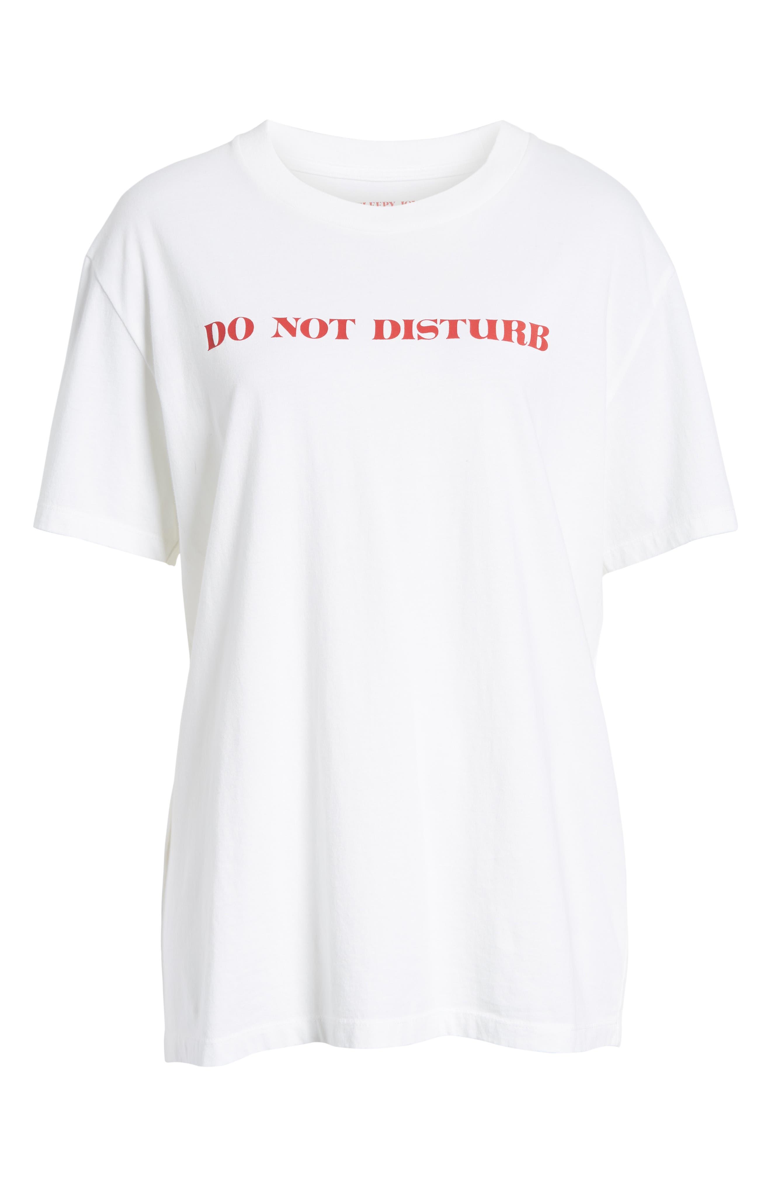 Do Not Disturb Tee,                             Alternate thumbnail 6, color,                             WHITE