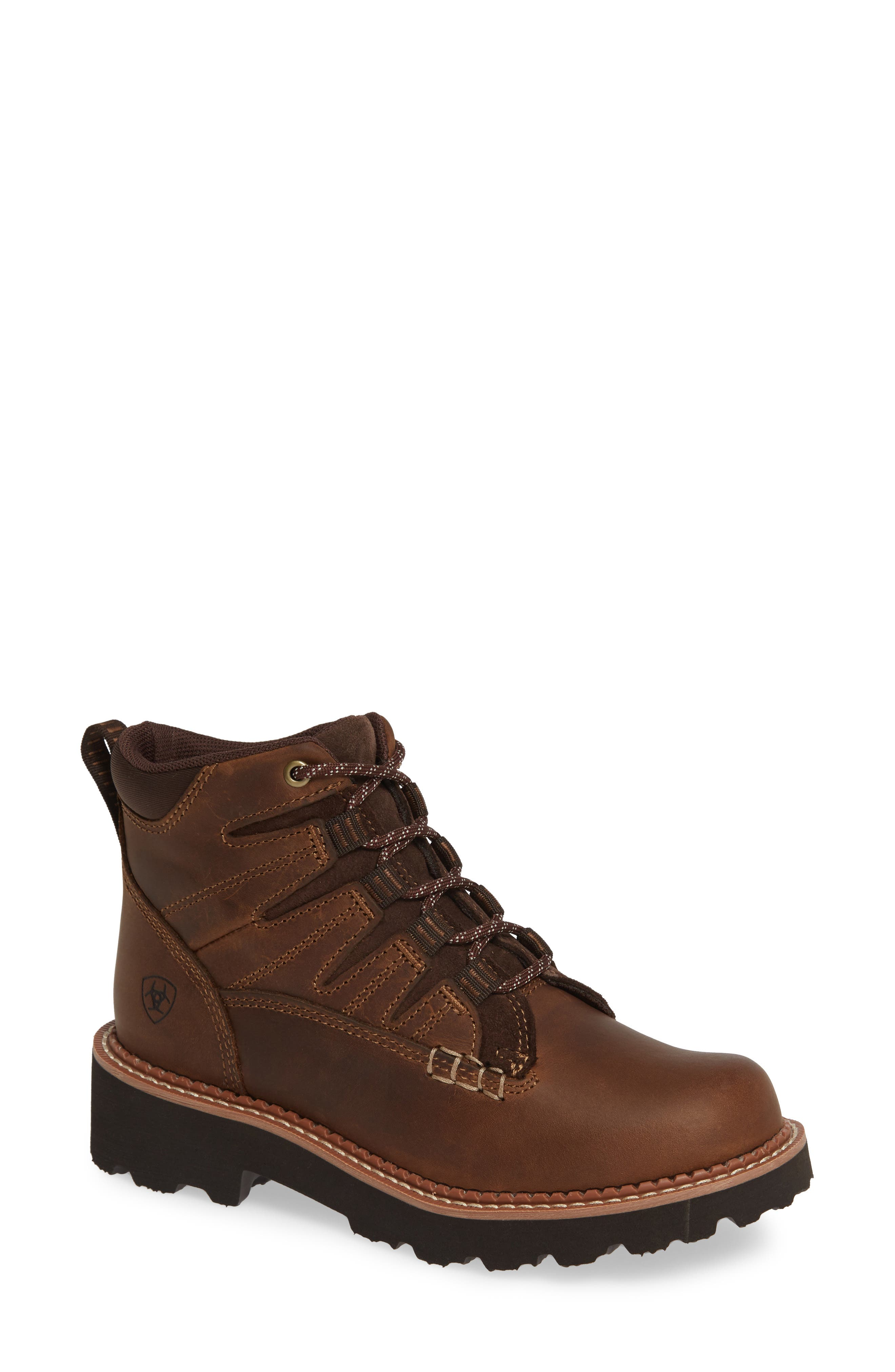 Canyon II Bootie,                             Main thumbnail 1, color,                             DISTRESSED BROWN LEATHER