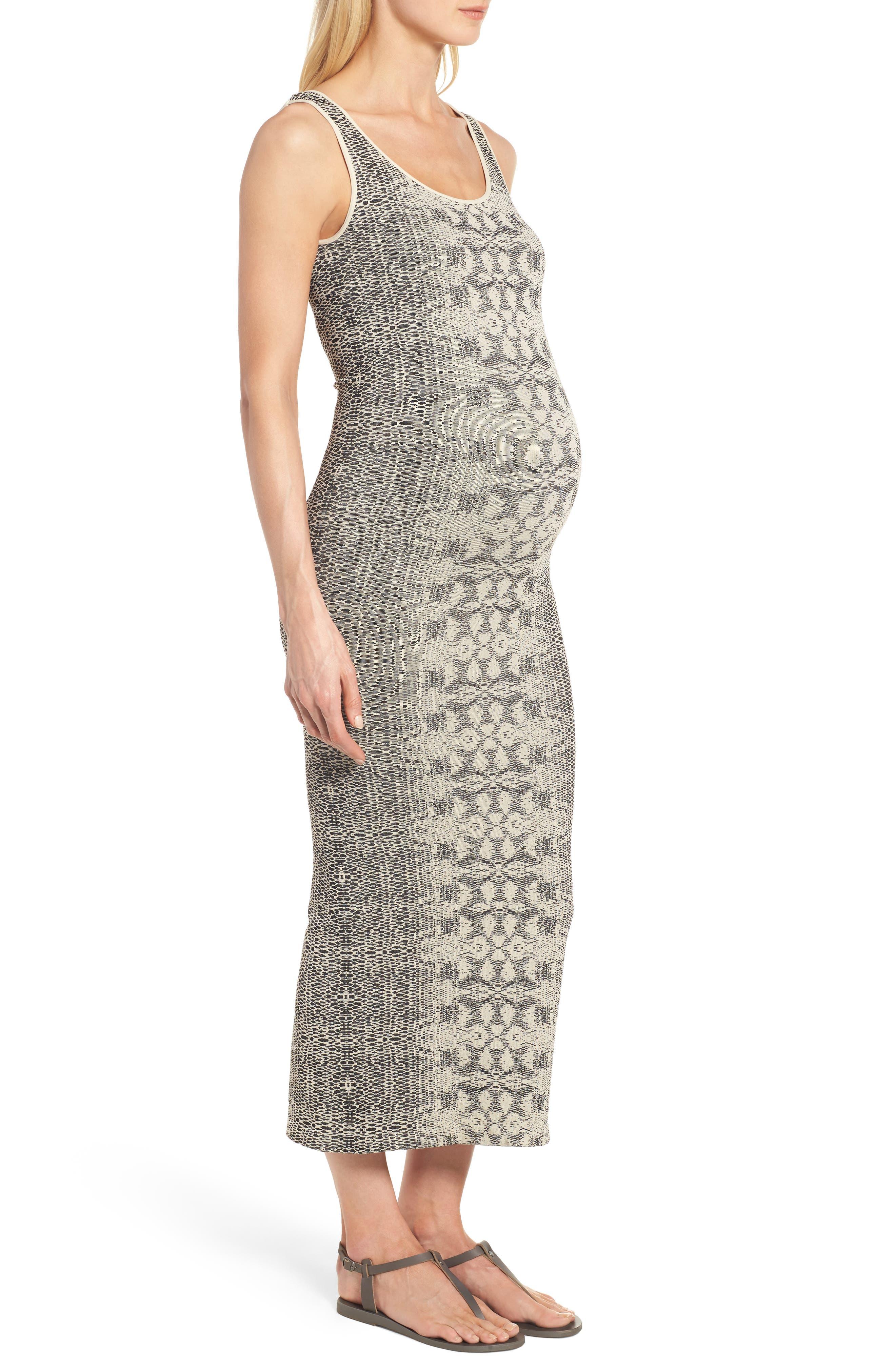 Snake Print Maternity Maxi Dress,                             Alternate thumbnail 3, color,                             900