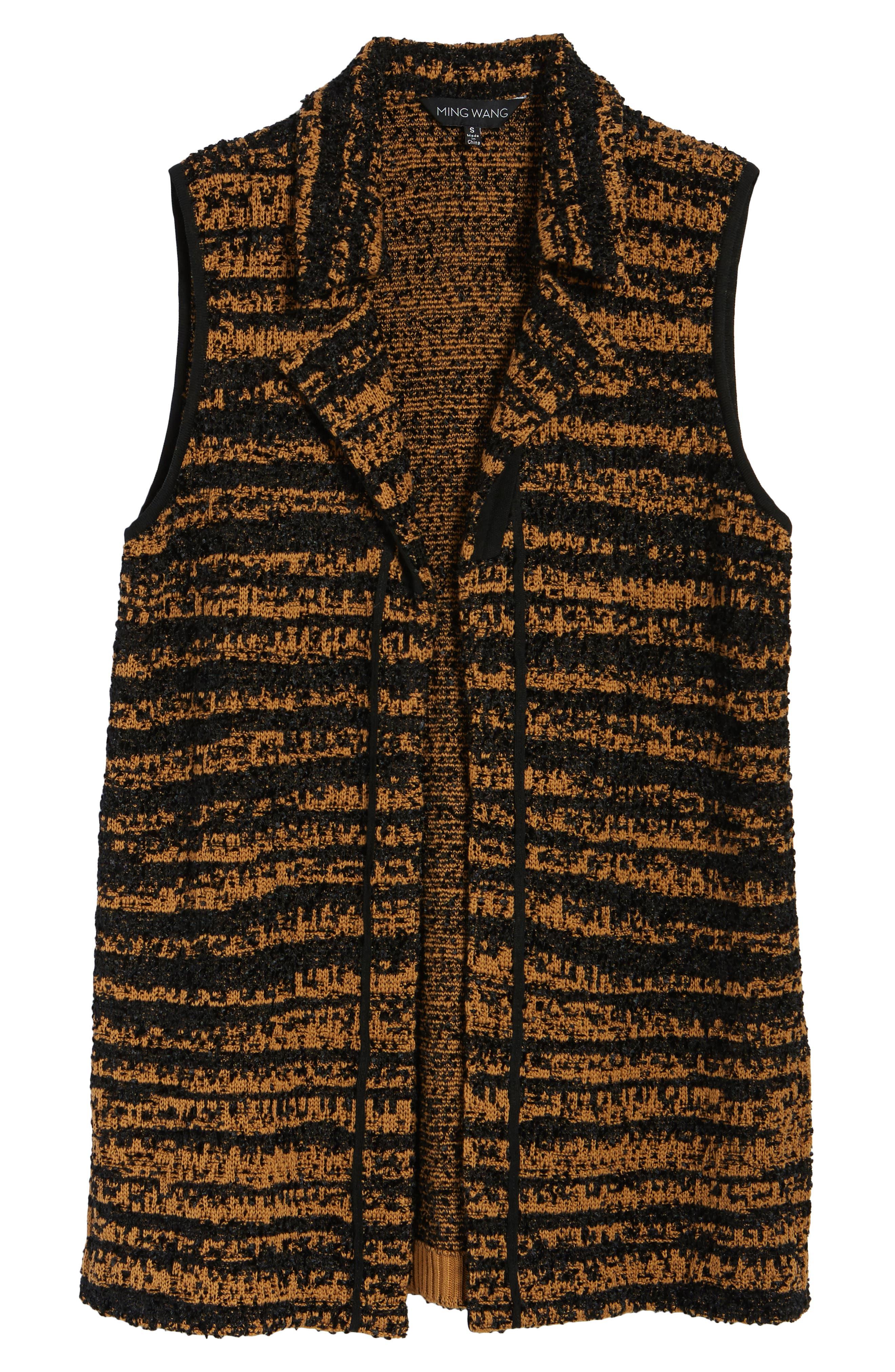 Stripe Sweater Vest,                             Alternate thumbnail 5, color,                             007