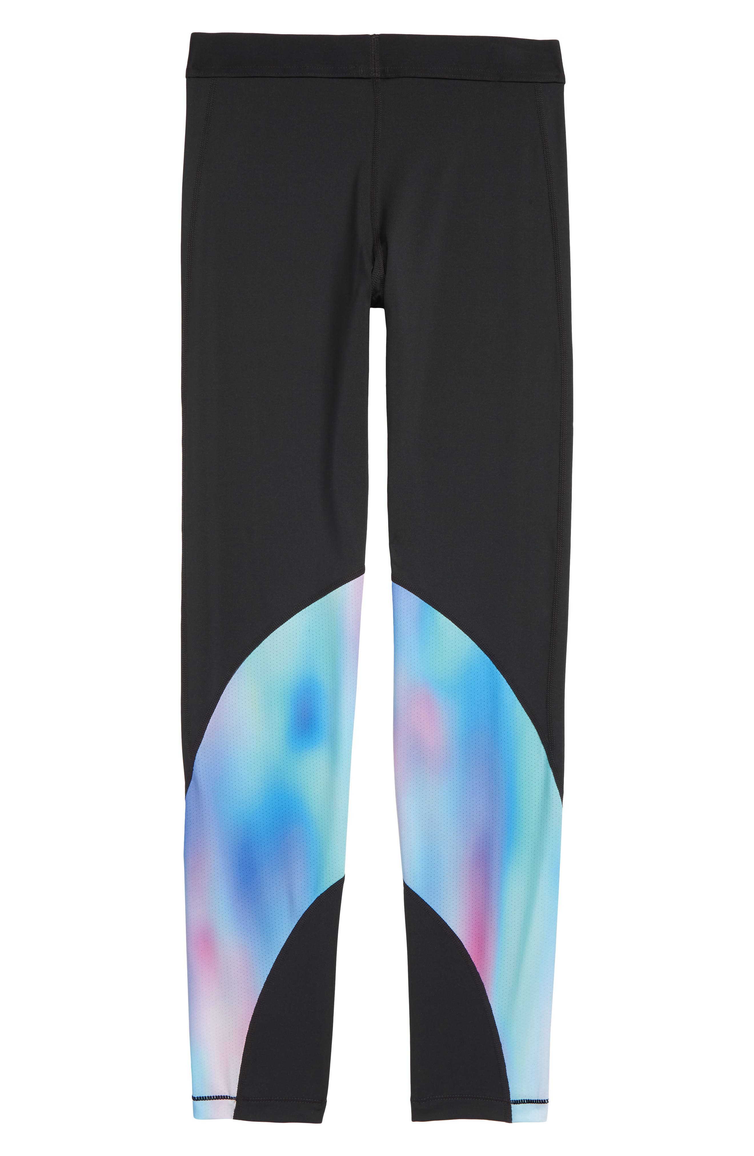 Pro Print Training Tights,                             Alternate thumbnail 2, color,                             BLK/ HYPER JD/ BLK/ LT AQUA