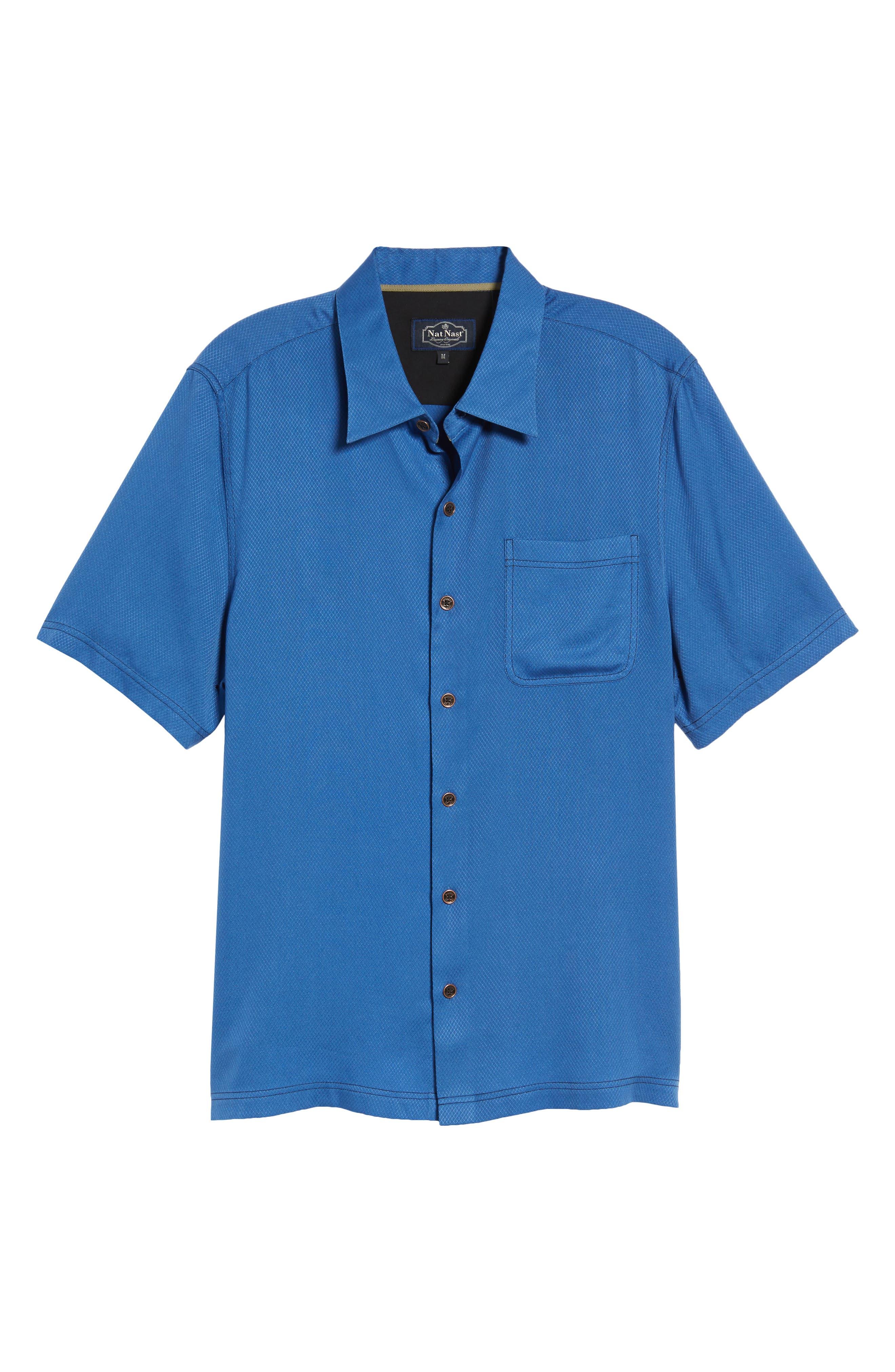 'Honeycomb' Regular Fit Short Sleeve Textured Sport Shirt,                             Alternate thumbnail 11, color,