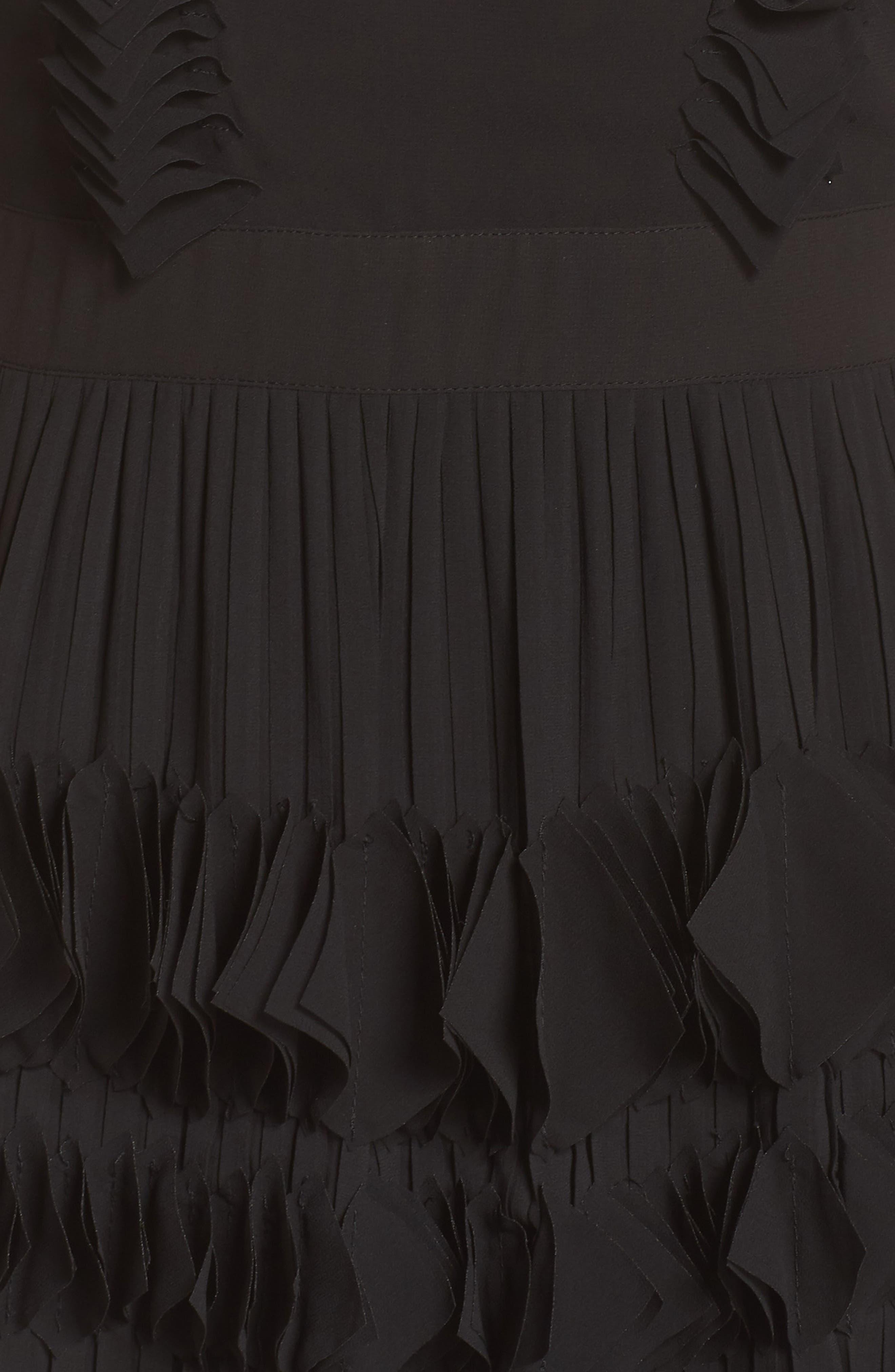 FOXIEDOX,                             Love Ruffle Dress,                             Alternate thumbnail 6, color,                             001