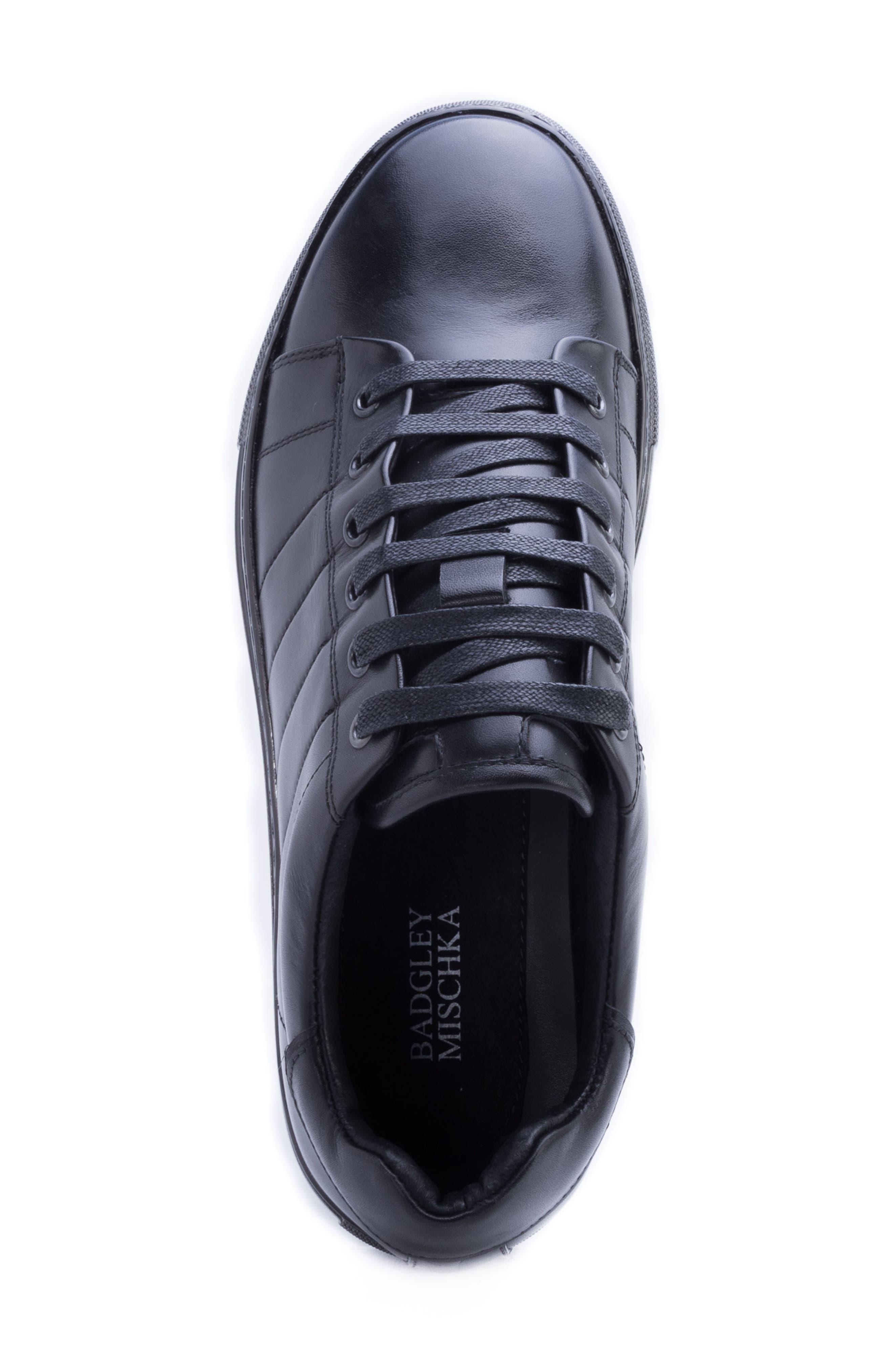 Hackman Sneaker,                             Alternate thumbnail 5, color,                             BLACK LEATHER