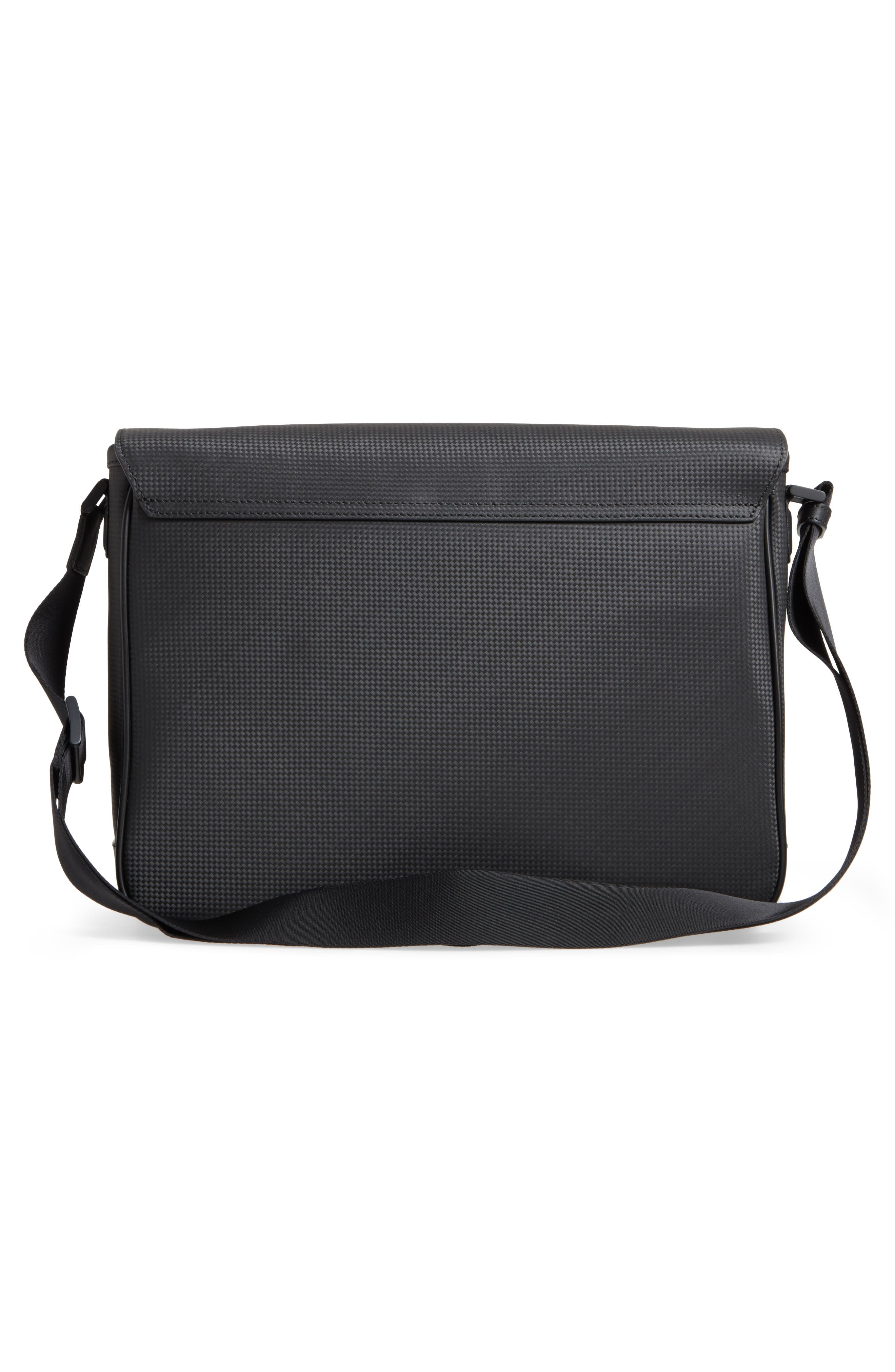 Extreme Leather Messenger Bag,                             Alternate thumbnail 3, color,                             001