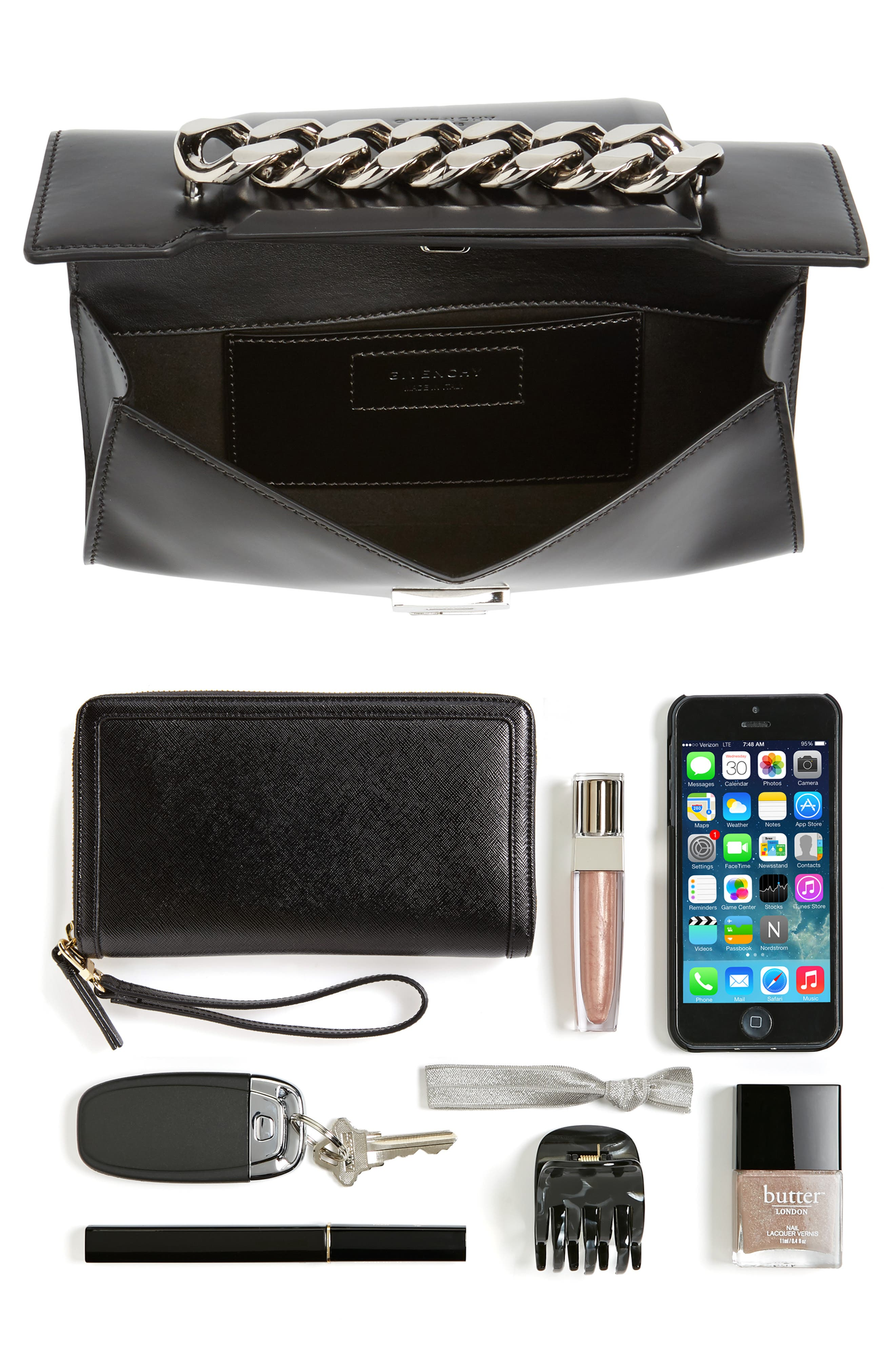 Mini Infinity Calfskin Leather Shoulder/Crossbody Bag,                             Alternate thumbnail 13, color,