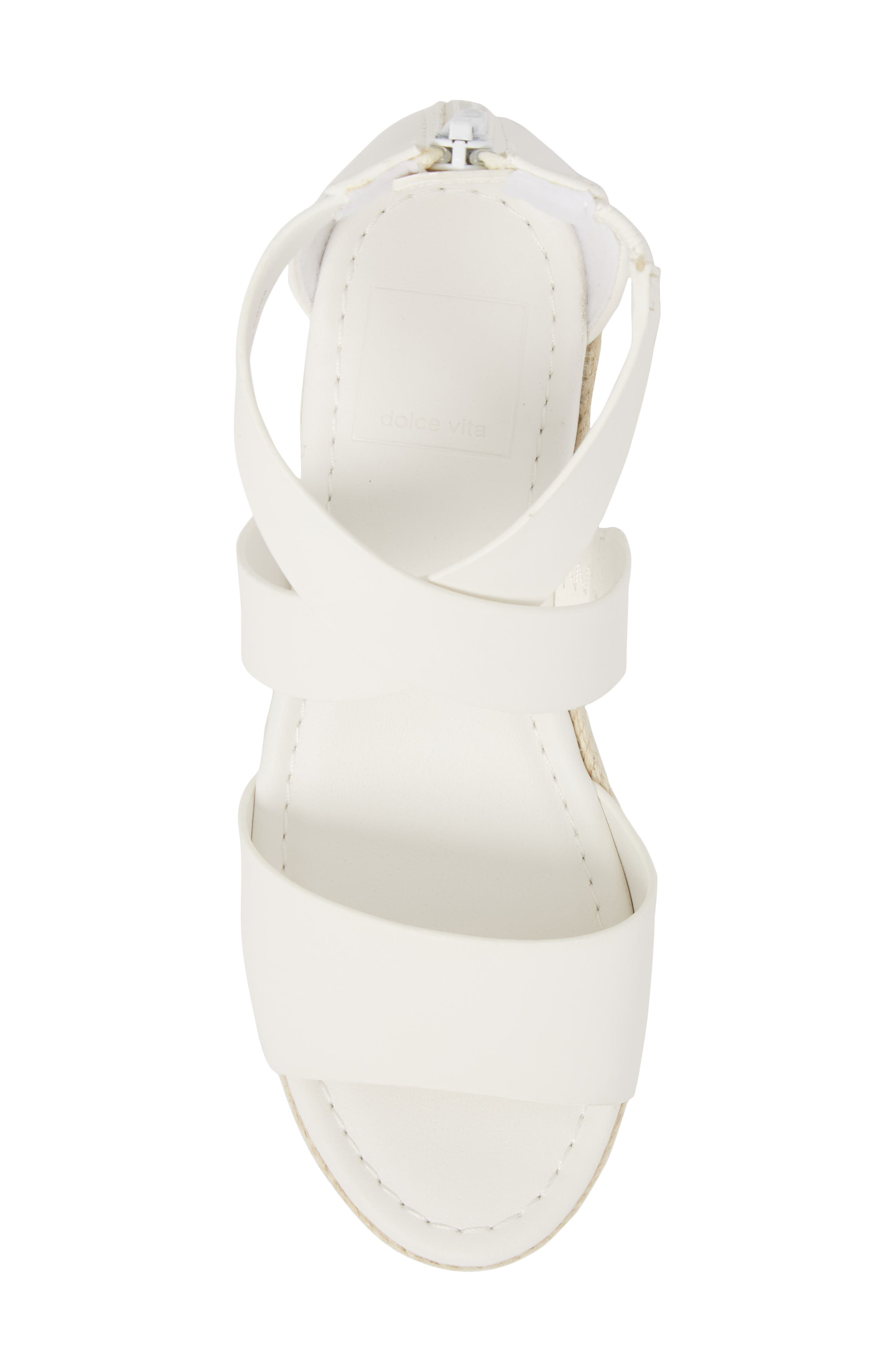 DOLCE VITA,                             Wilma Platform Wedge Sandal,                             Alternate thumbnail 5, color,                             100