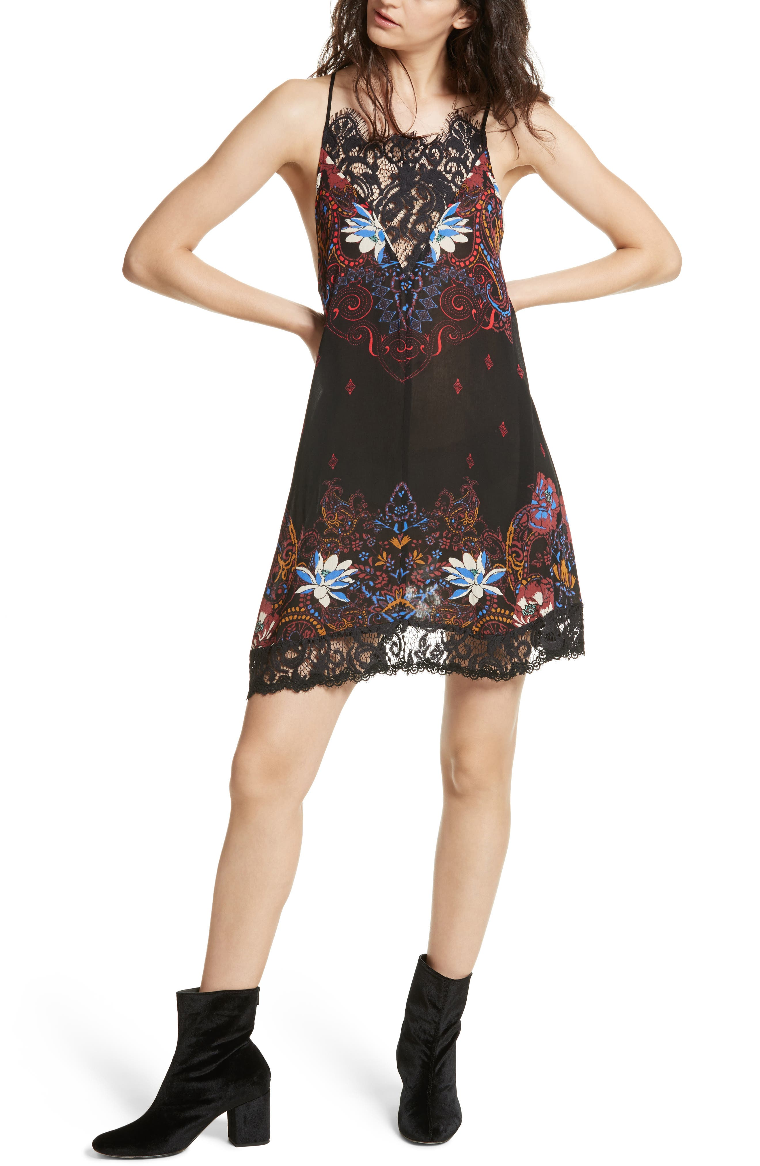 Who's Sorry Now Print Slipdress,                         Main,                         color, 001
