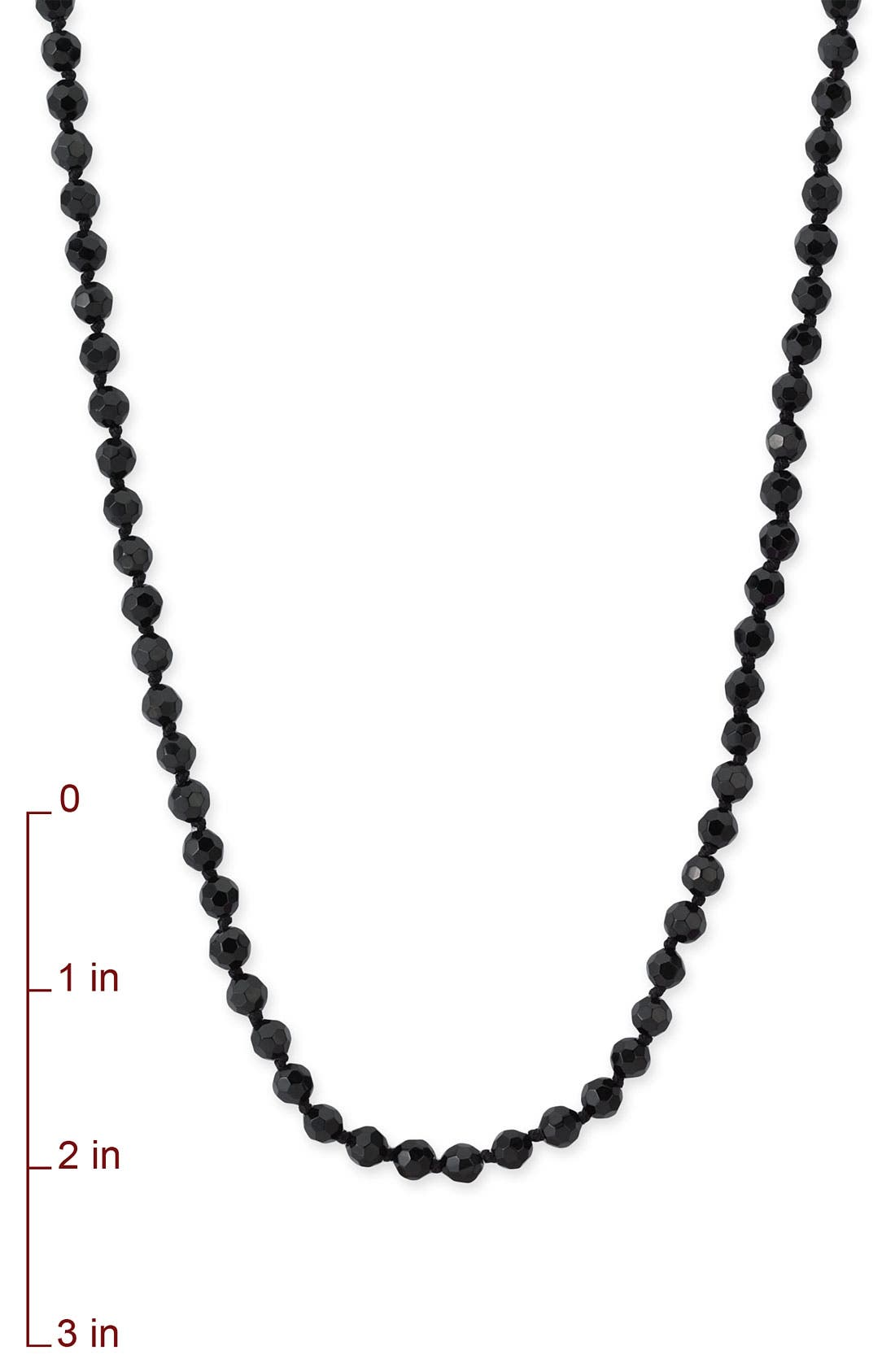 6mm Glass Pearl Extra Long Strand Necklace,                             Alternate thumbnail 5, color,                             001