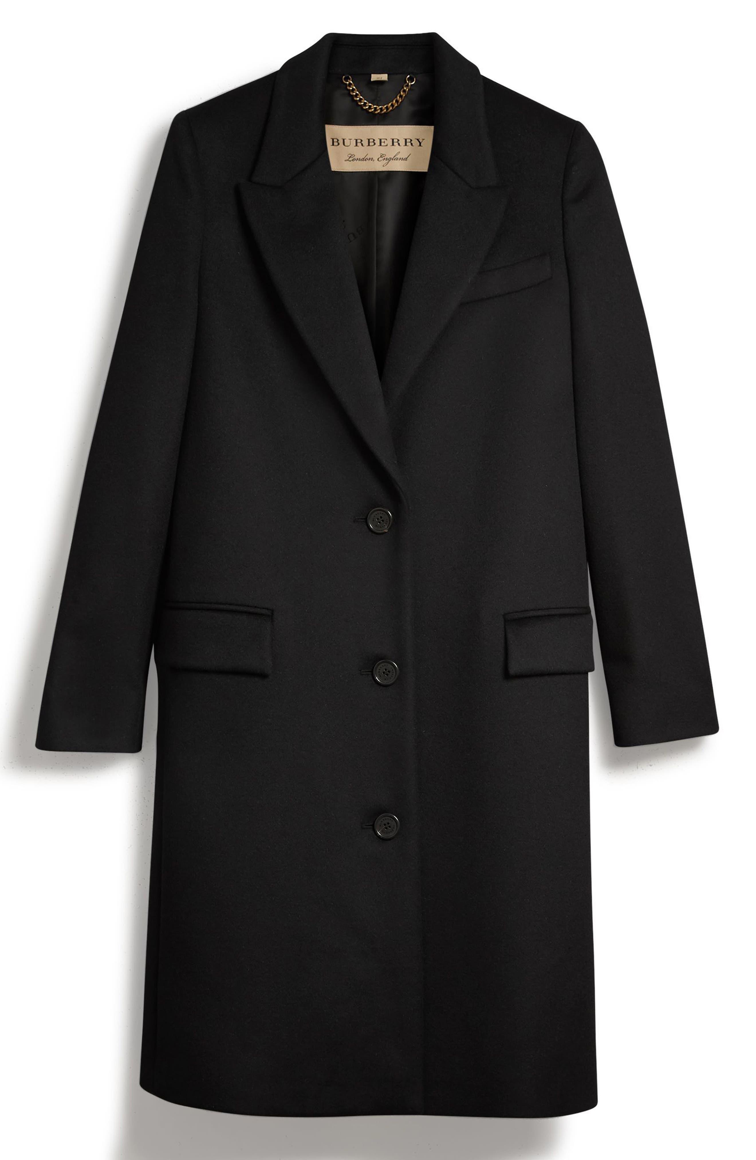Fellhurst Wool & Cashmere Coat,                             Alternate thumbnail 5, color,                             001