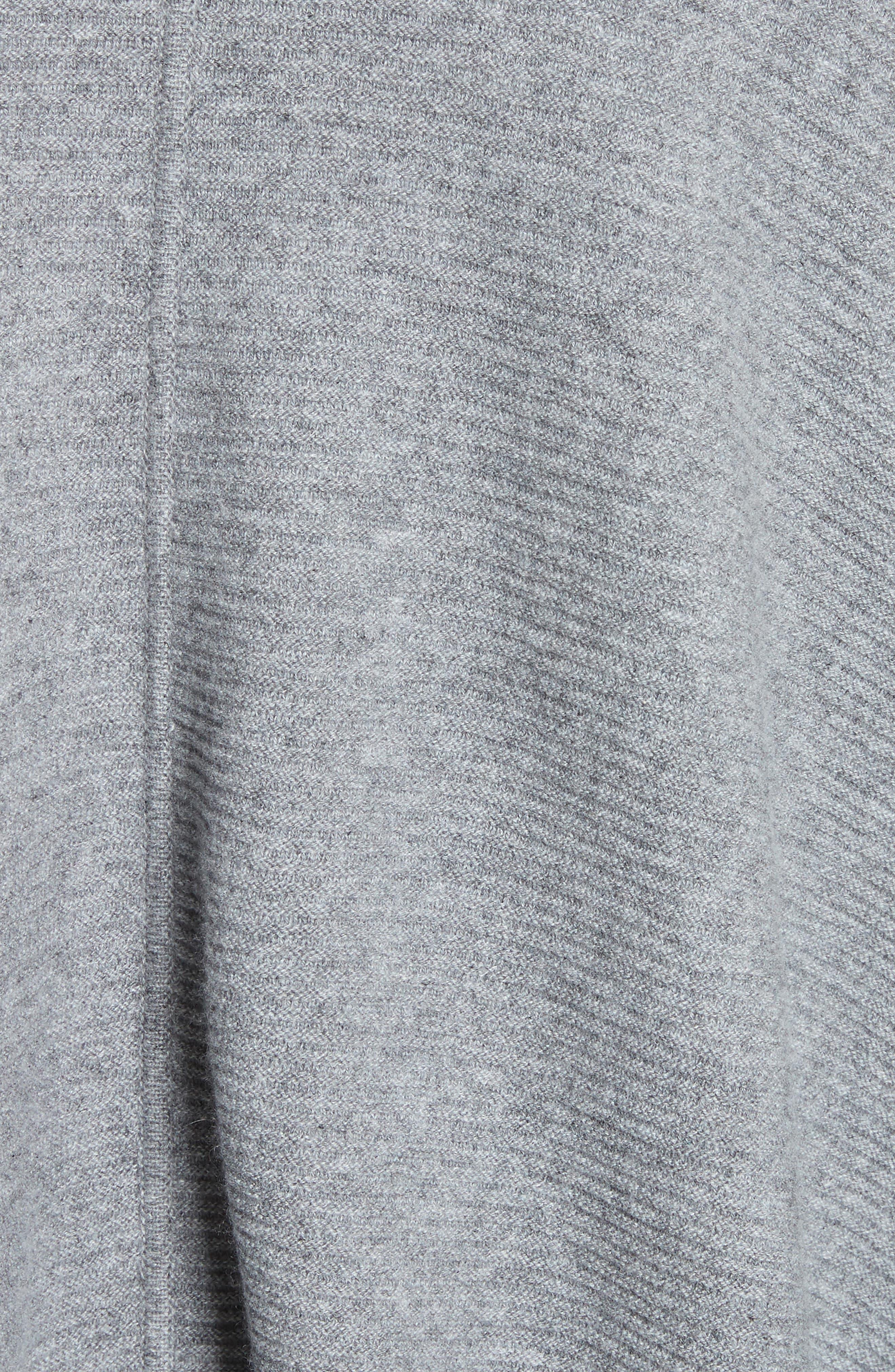Cashmere Wrap,                             Alternate thumbnail 5, color,                             NICKEL MELANGE