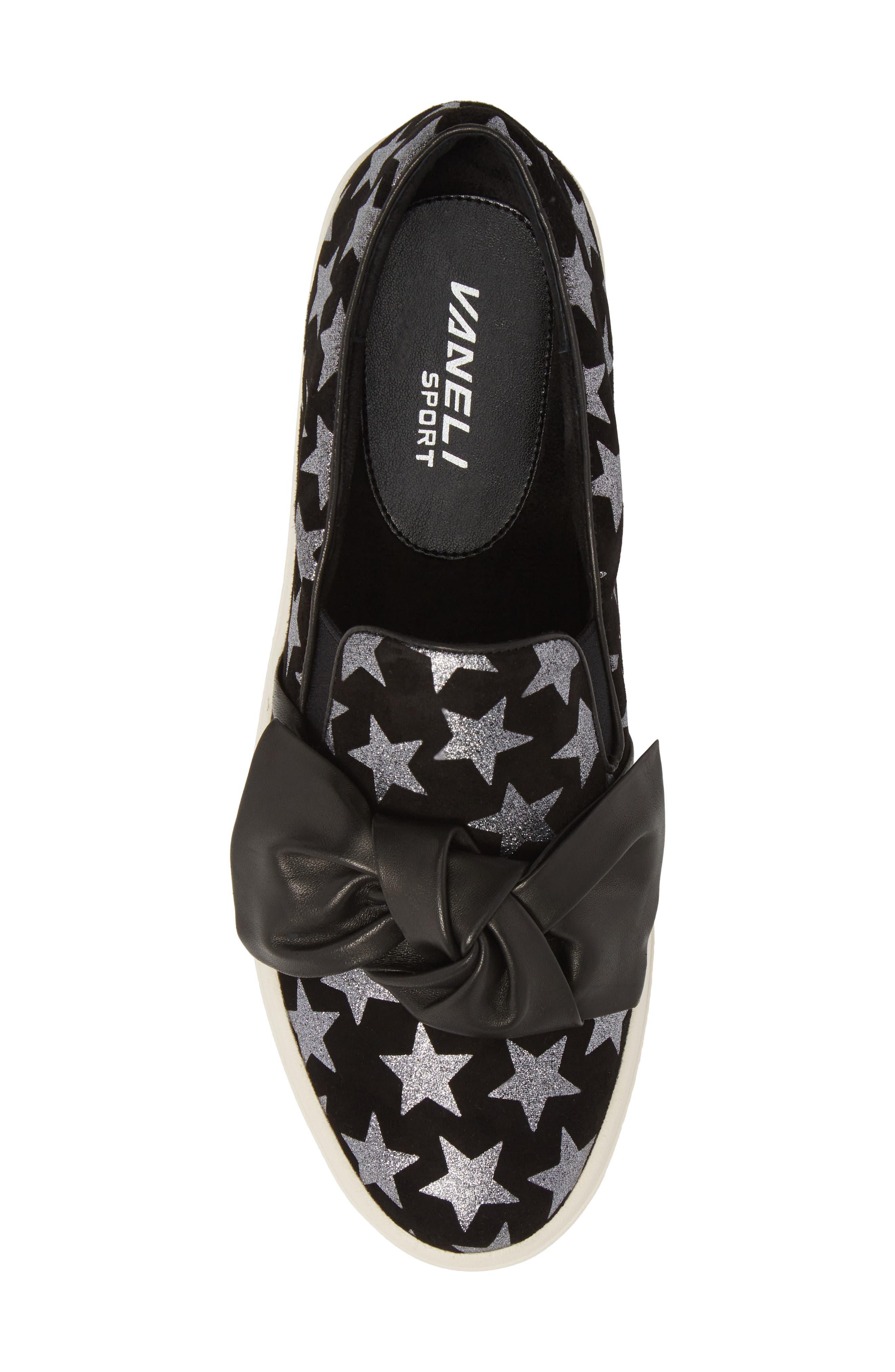 Odelet Slip-On Sneaker,                             Alternate thumbnail 5, color,                             BLACK/ PEWTER SUEDE