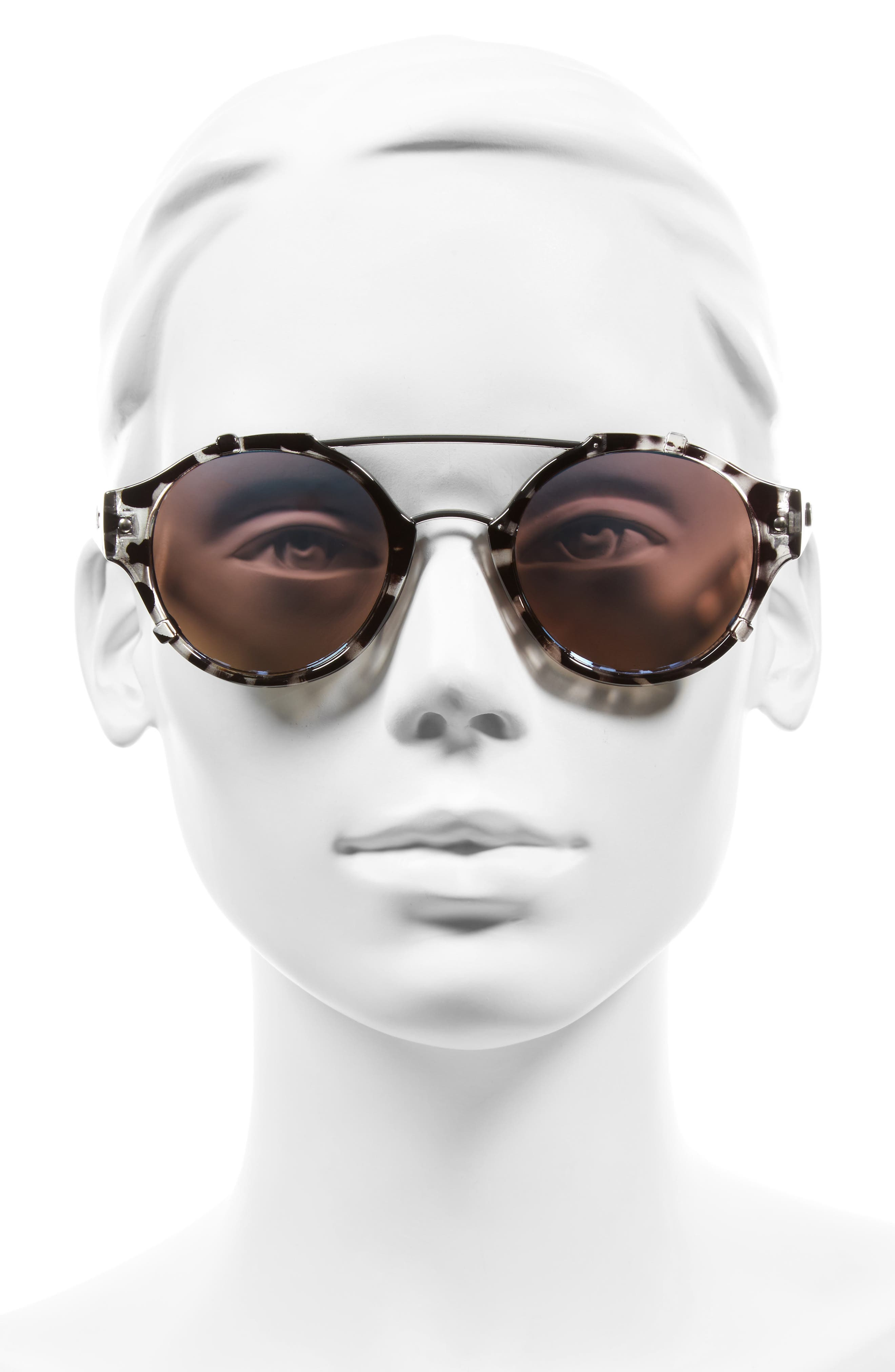 It's a Sin 49mm Mirrored Round Sunglasses,                             Alternate thumbnail 2, color,                             010