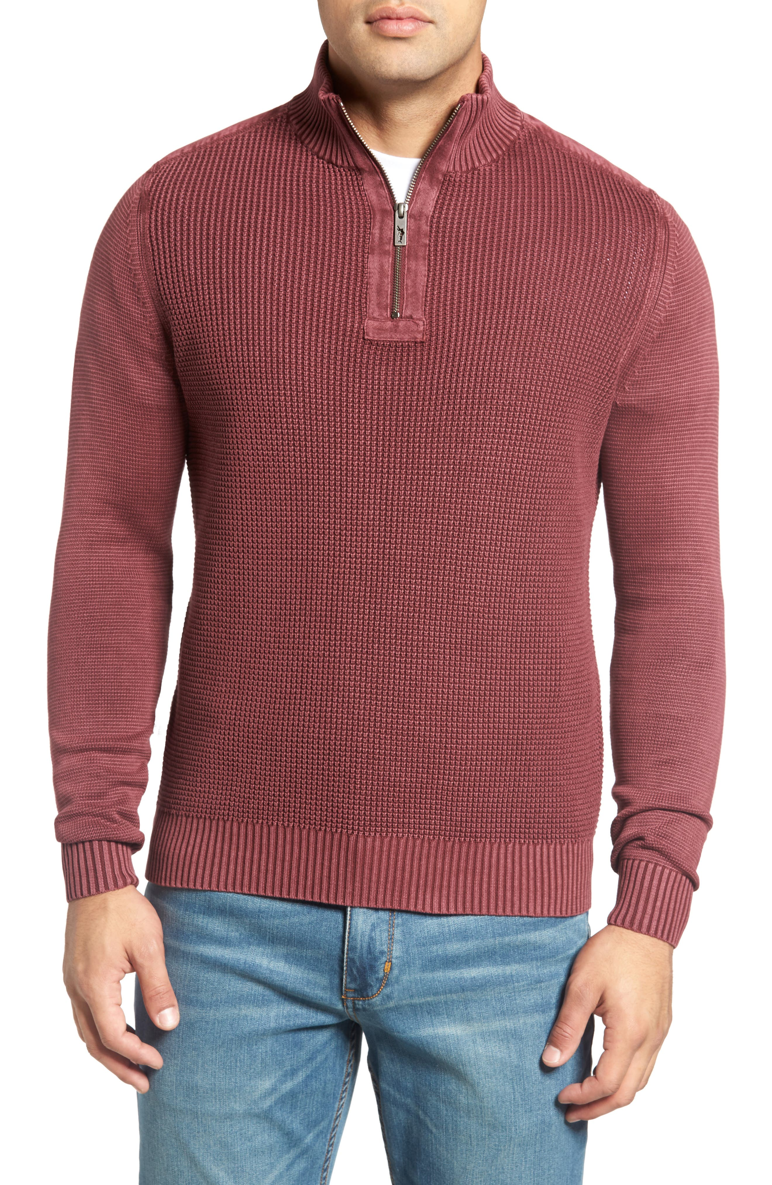 'Coastal Shores' Quarter Zip Sweater,                             Main thumbnail 10, color,