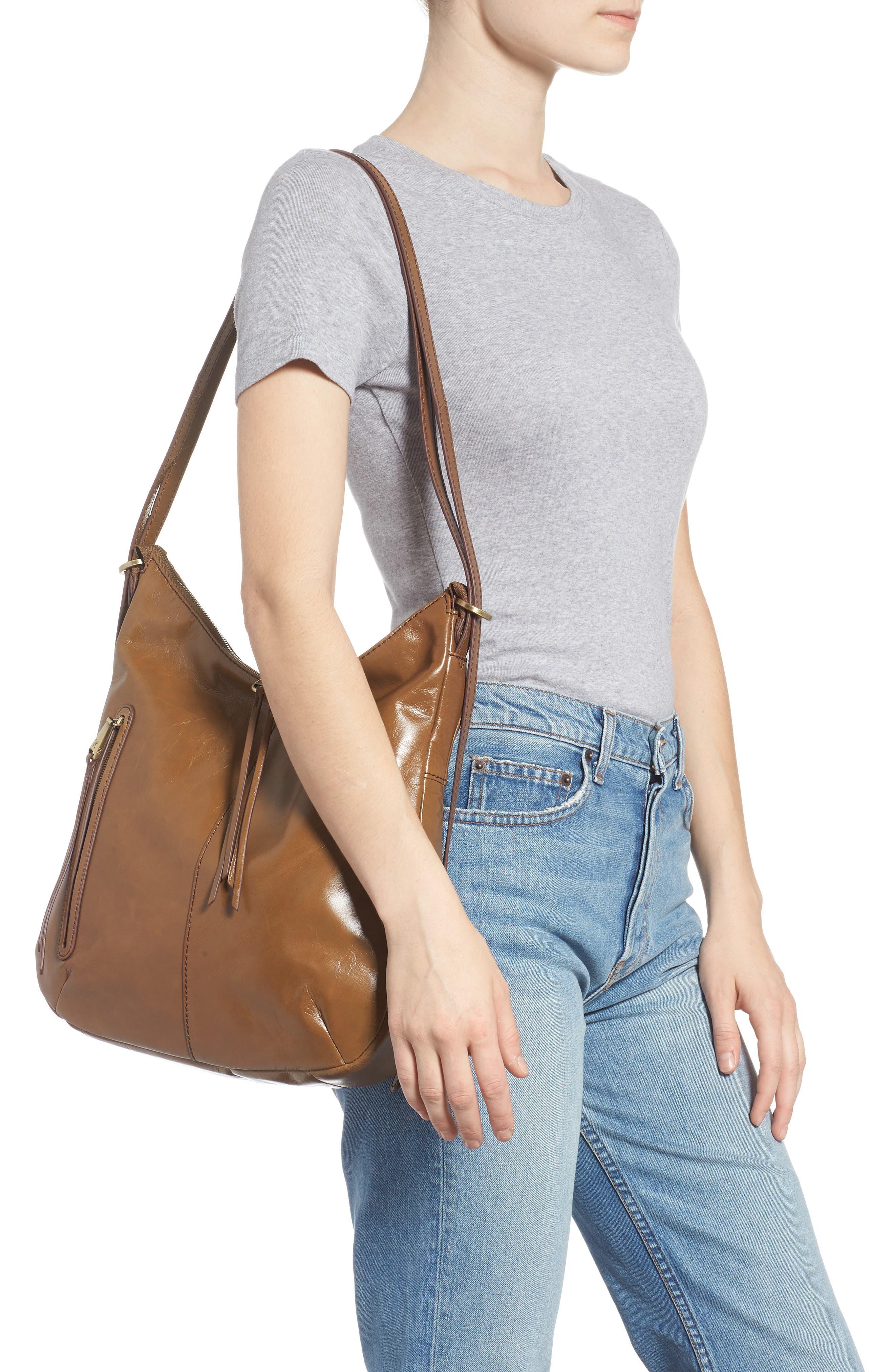 Merrin Leather Backpack,                             Alternate thumbnail 3, color,                             MINK