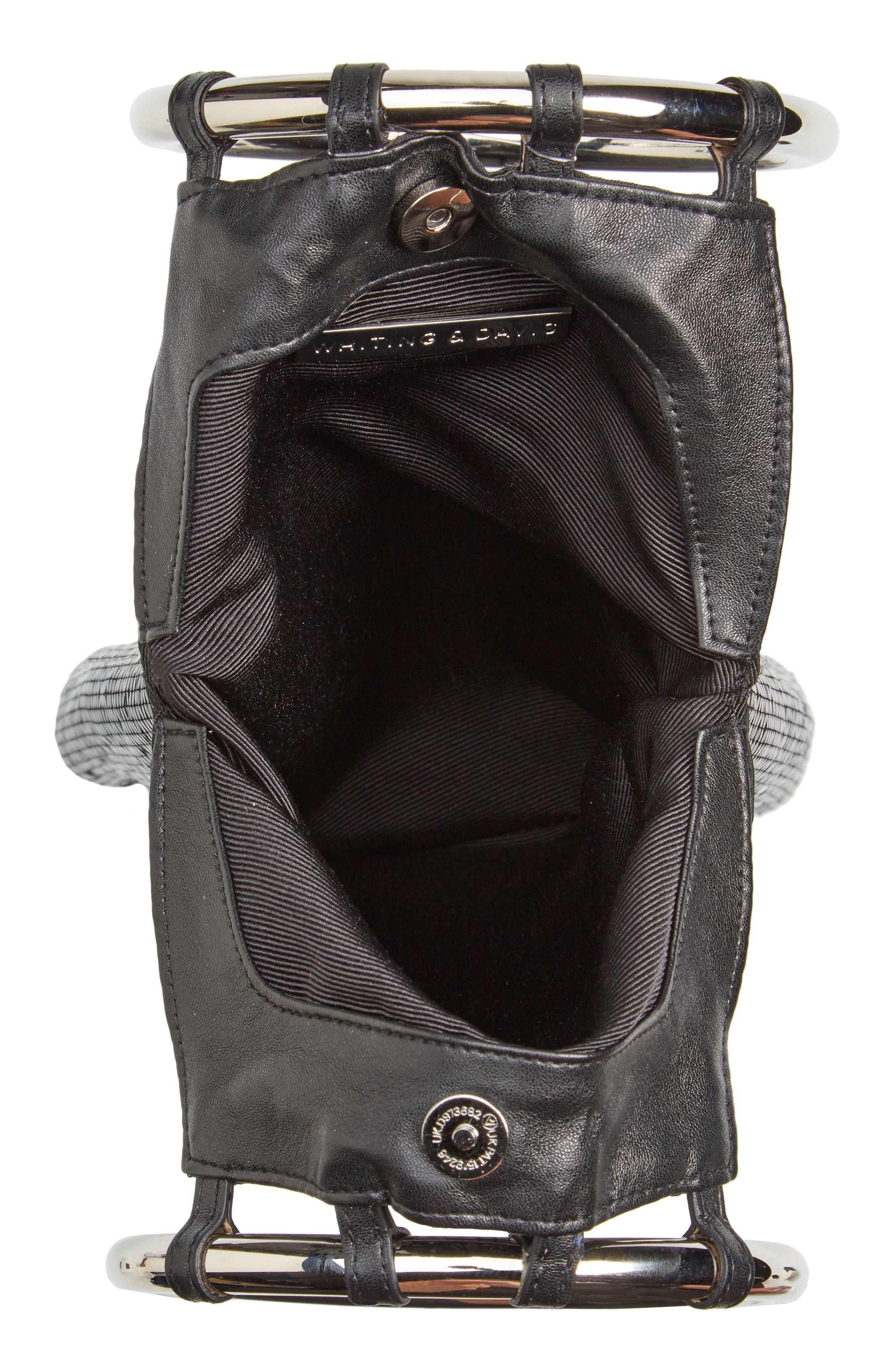 Rio Mesh Bracelet Bag,                             Alternate thumbnail 6, color,                             BLACK