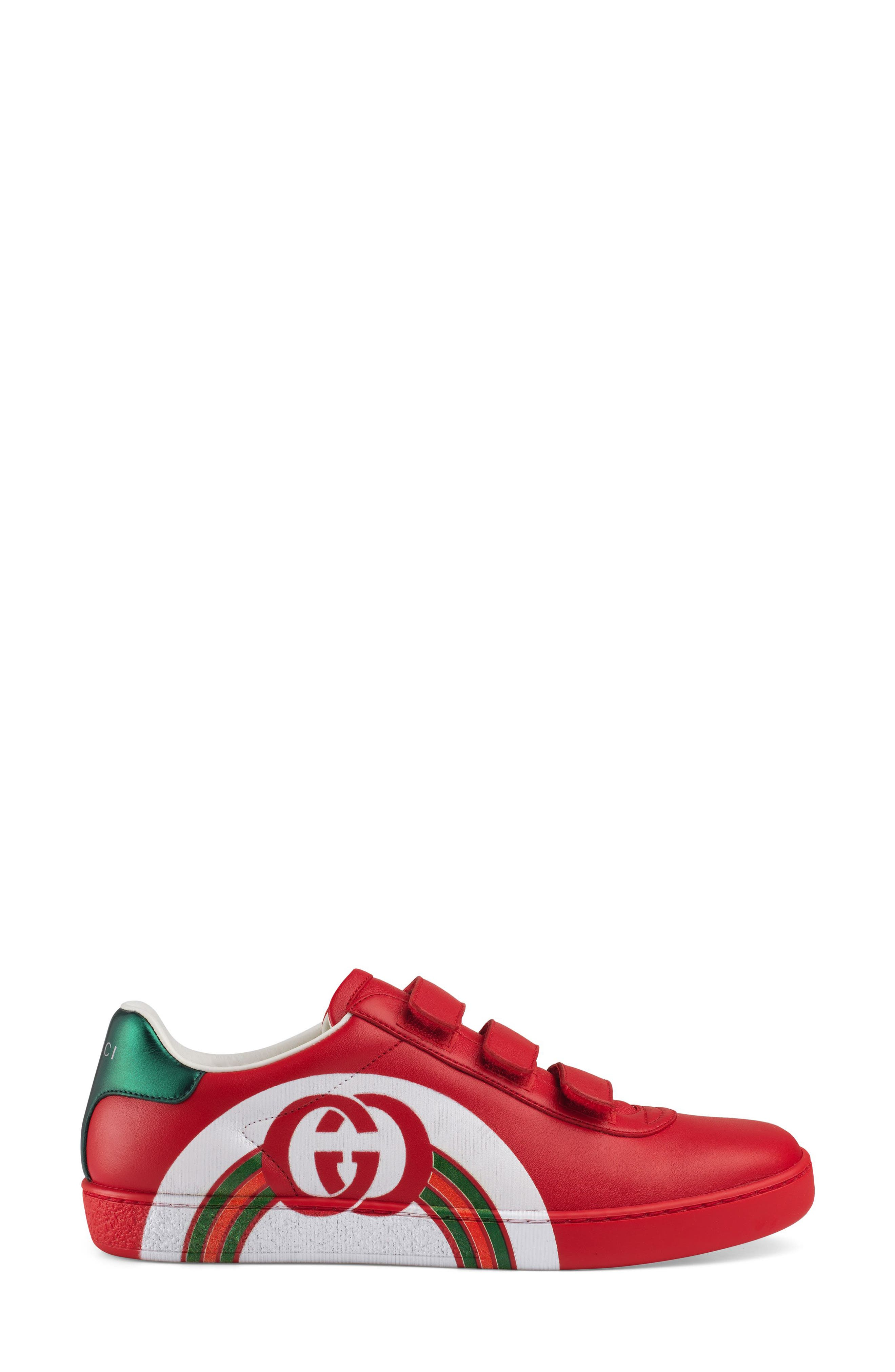 New Ace Sneaker,                             Alternate thumbnail 2, color,                             RED