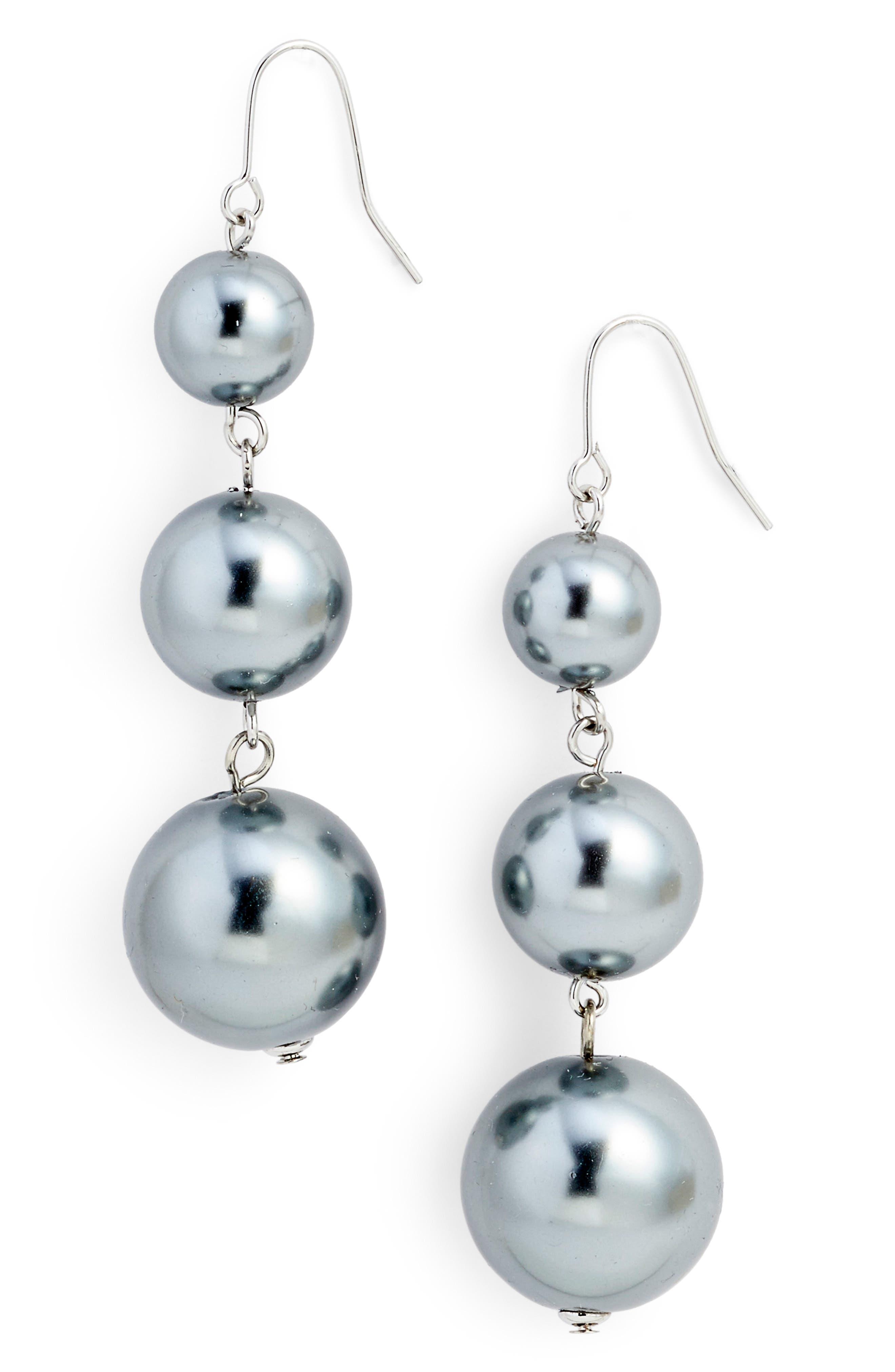 Imitation Pearl Drop Earrings,                             Main thumbnail 1, color,                             041