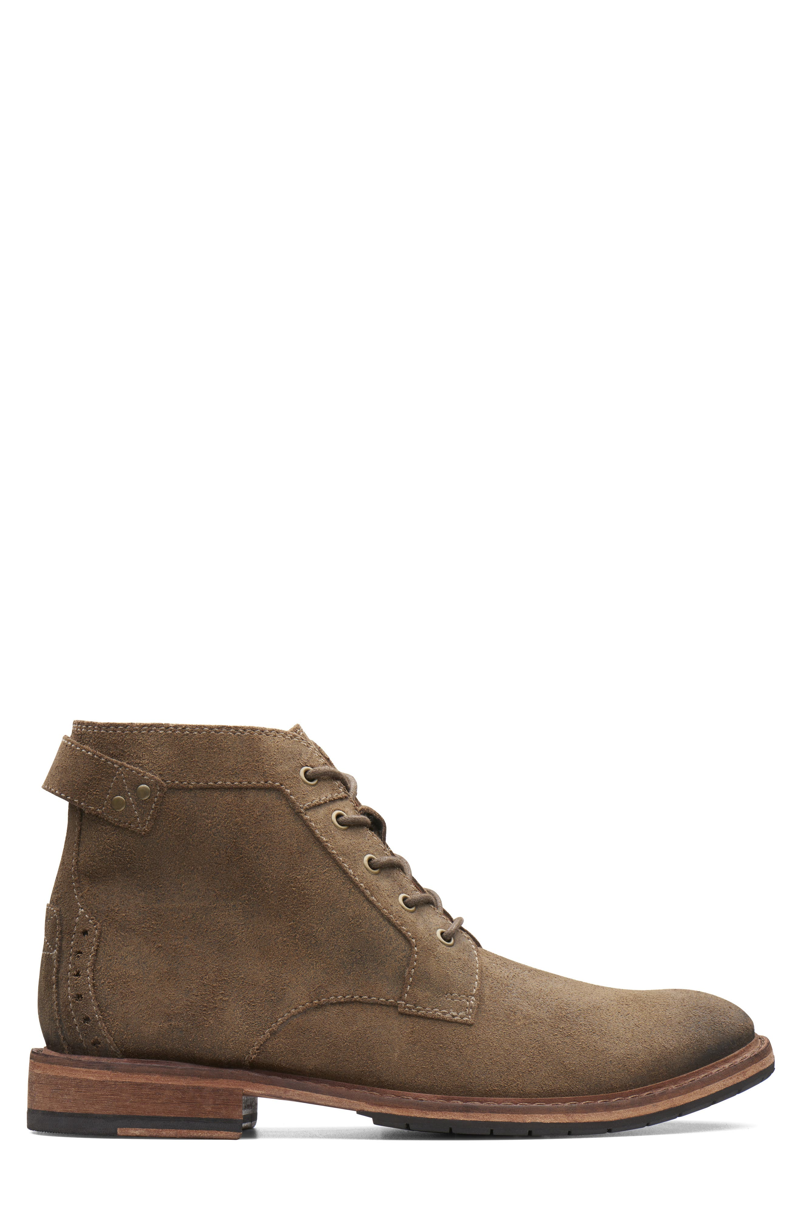 Clarkdale Bud Plain Toe Boot,                             Alternate thumbnail 2, color,                             KHAKI SUEDE