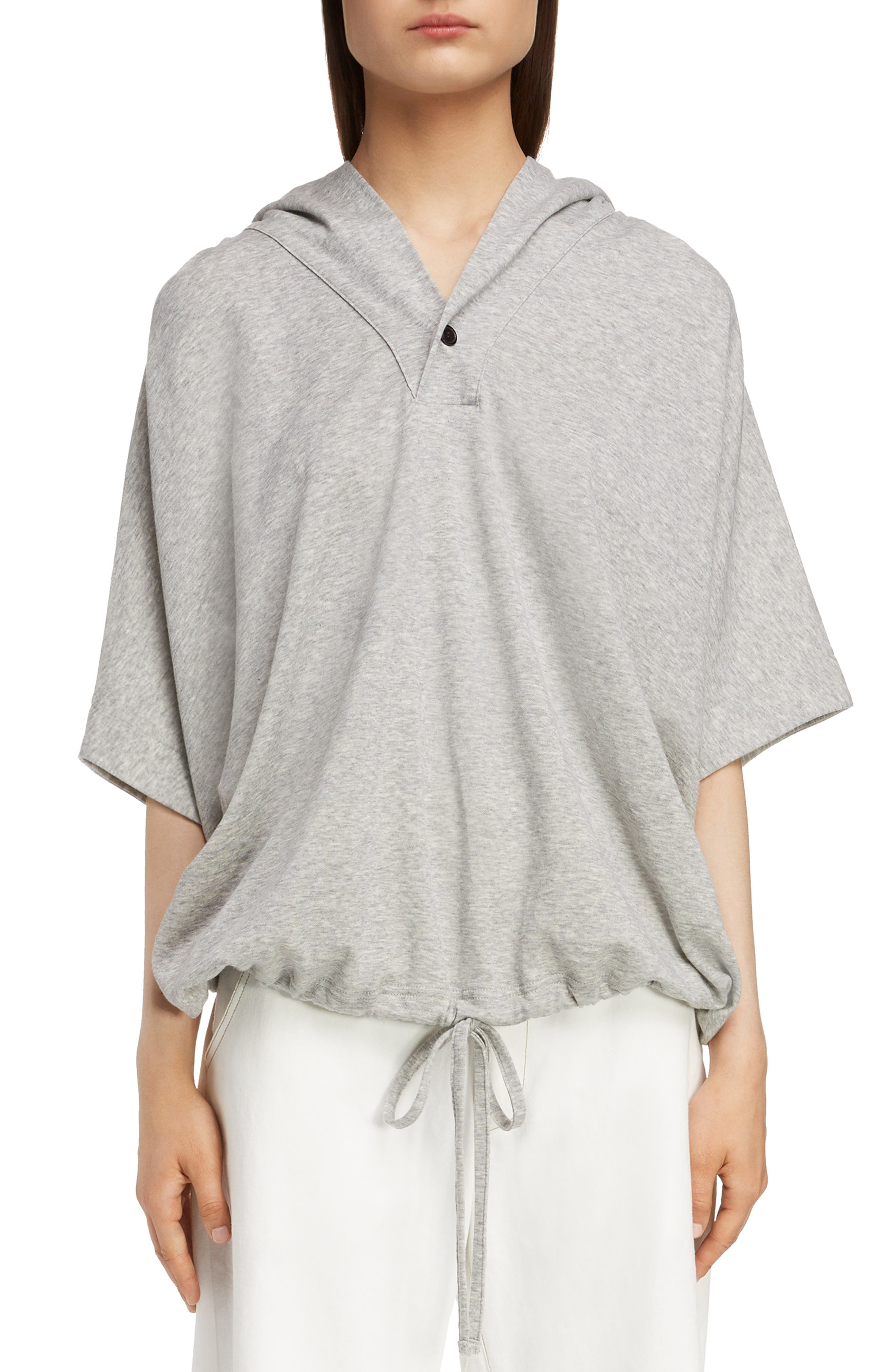 Dolman Sleeve Hoodie,                         Main,                         color, LIGHT GREY