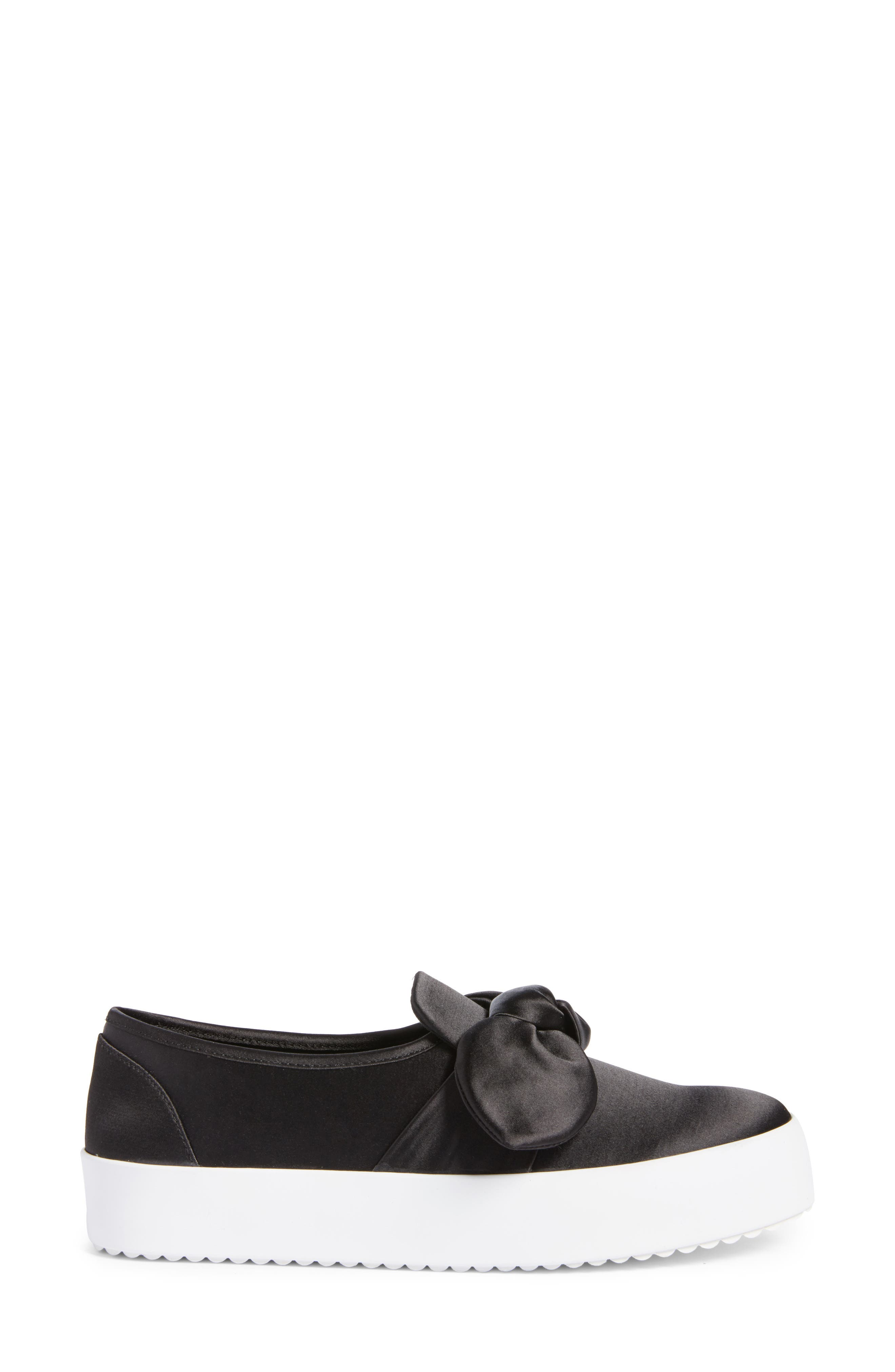 Stacey Bow Platform Sneaker,                             Alternate thumbnail 3, color,                             002