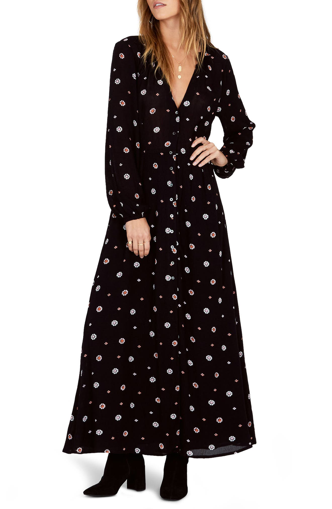 AMUSE SOCIETY,                             Bel Air Print Maxi Dress,                             Main thumbnail 1, color,                             001