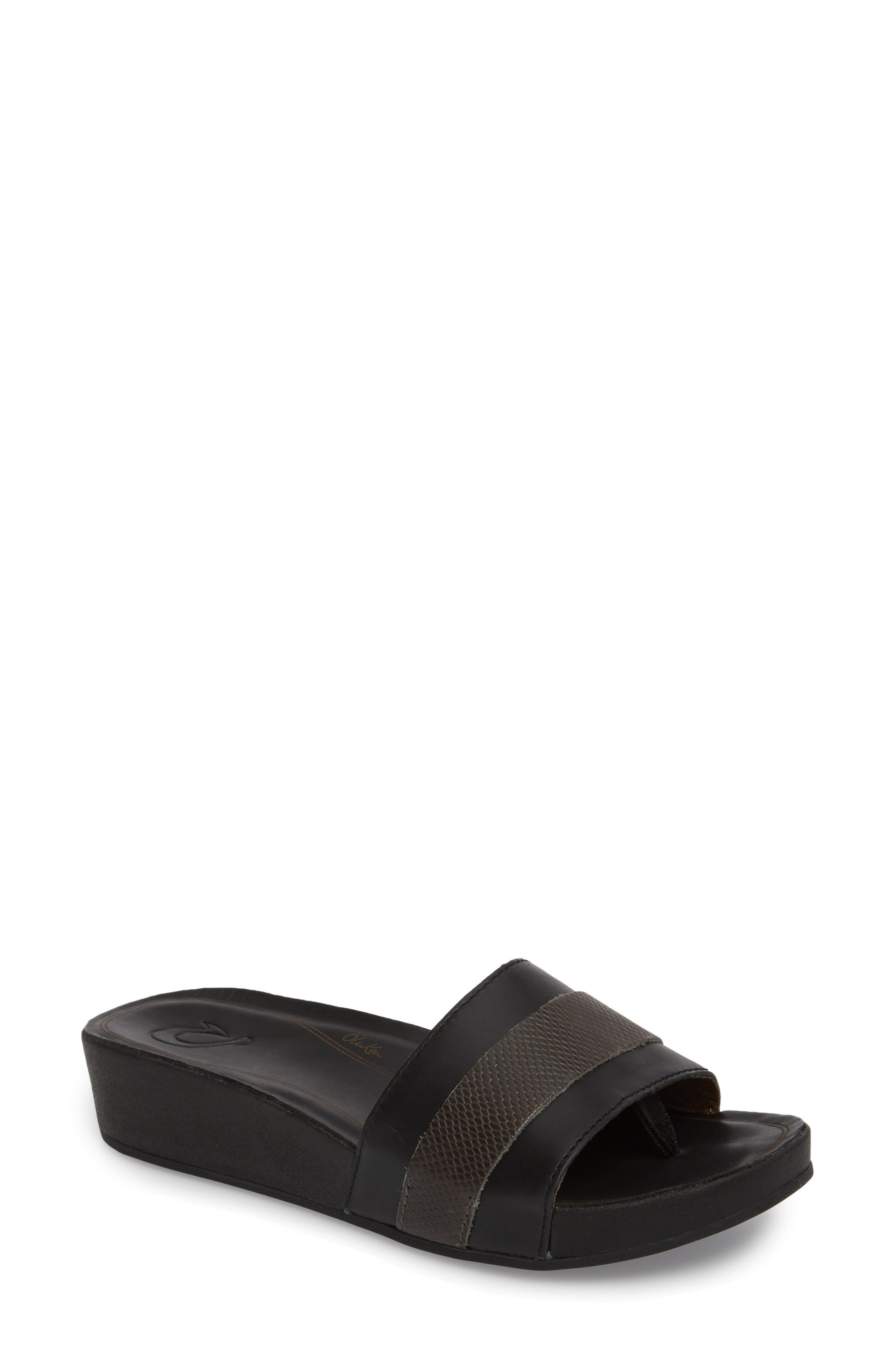Ola Huna Wedge Sandal,                             Main thumbnail 1, color,                             020