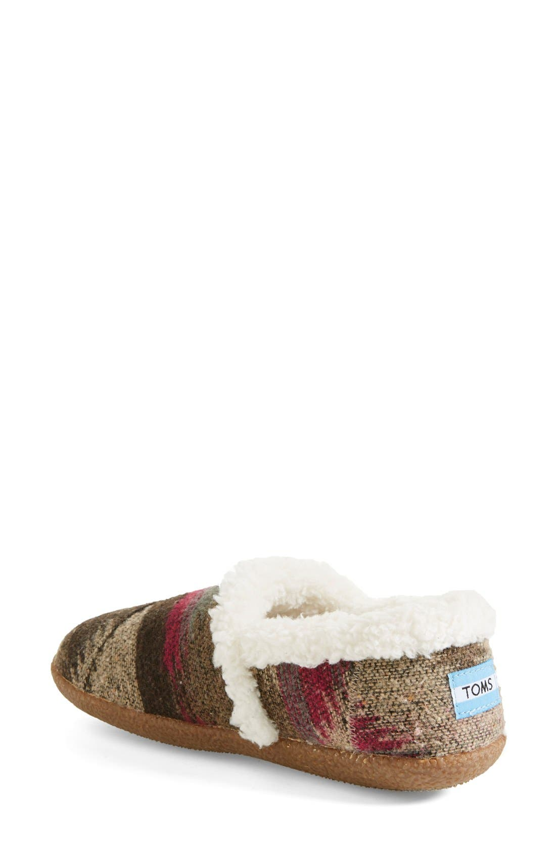 TOMS,                             'Classic - Wool' Slippers,                             Alternate thumbnail 4, color,                             050