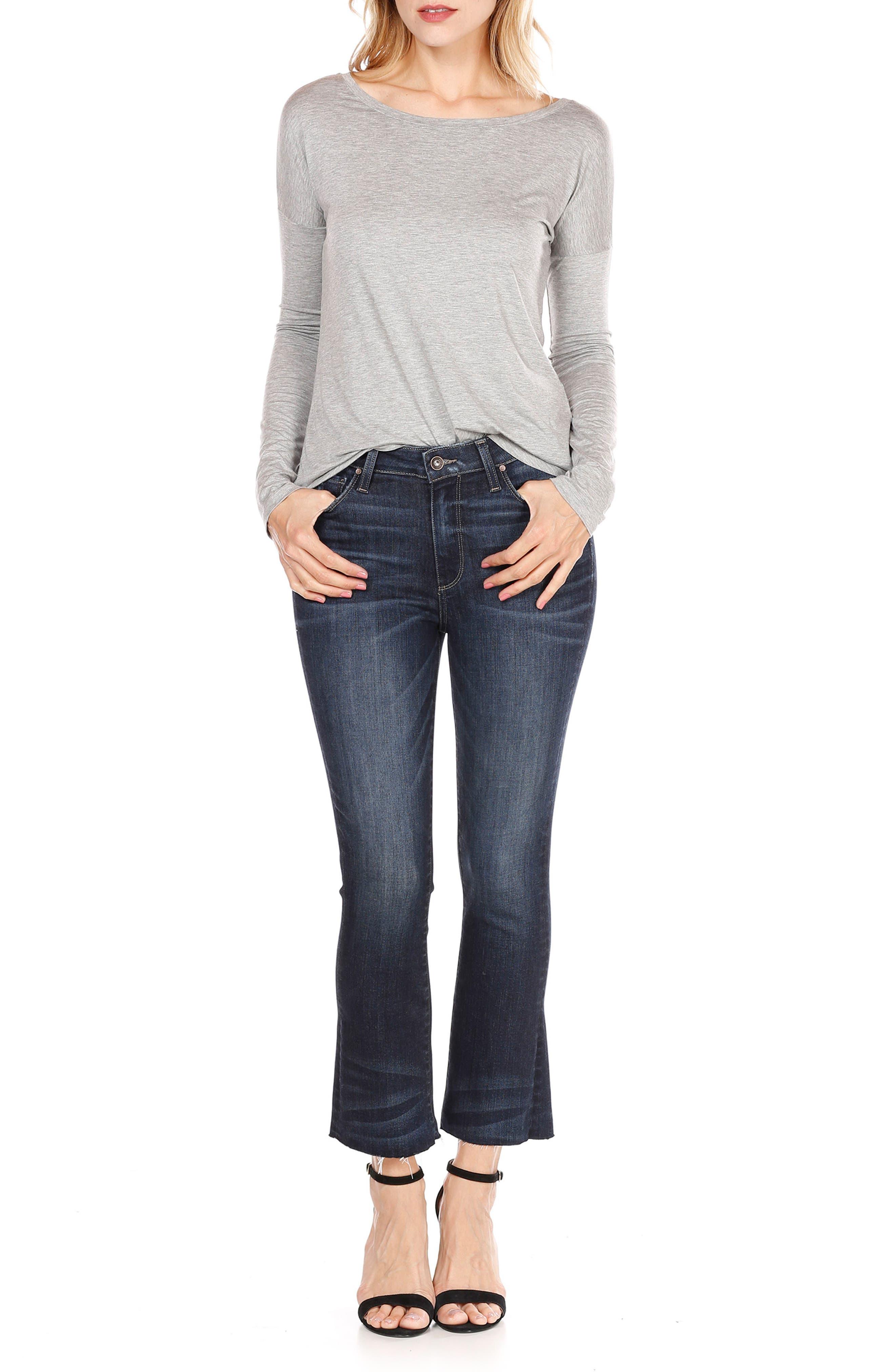 Transcend Vintage - Colette Crop Flare Jeans,                             Alternate thumbnail 8, color,                             ANZA