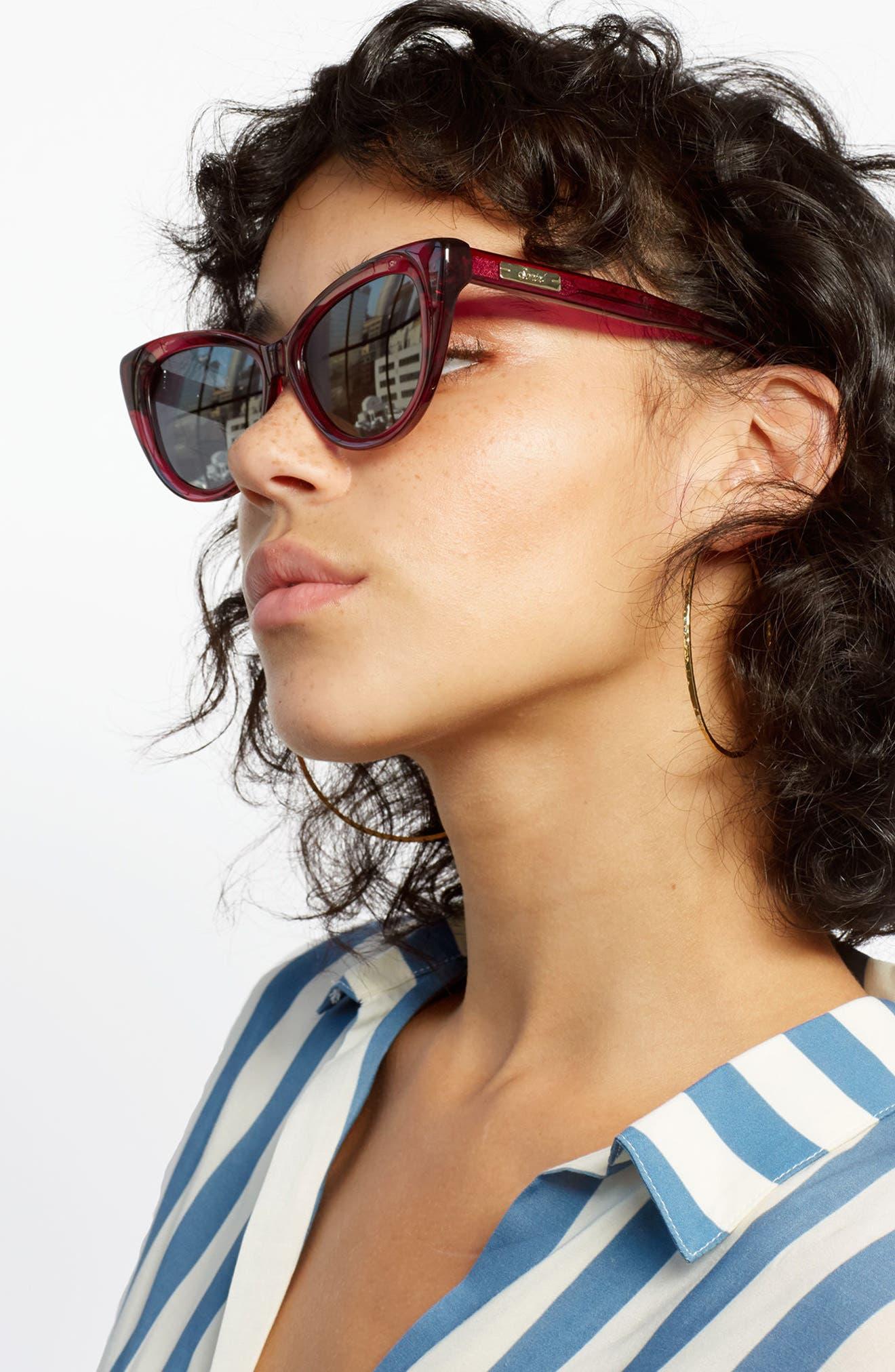 Kyoto 51mm Cat Eye Sunglasses,                             Alternate thumbnail 26, color,