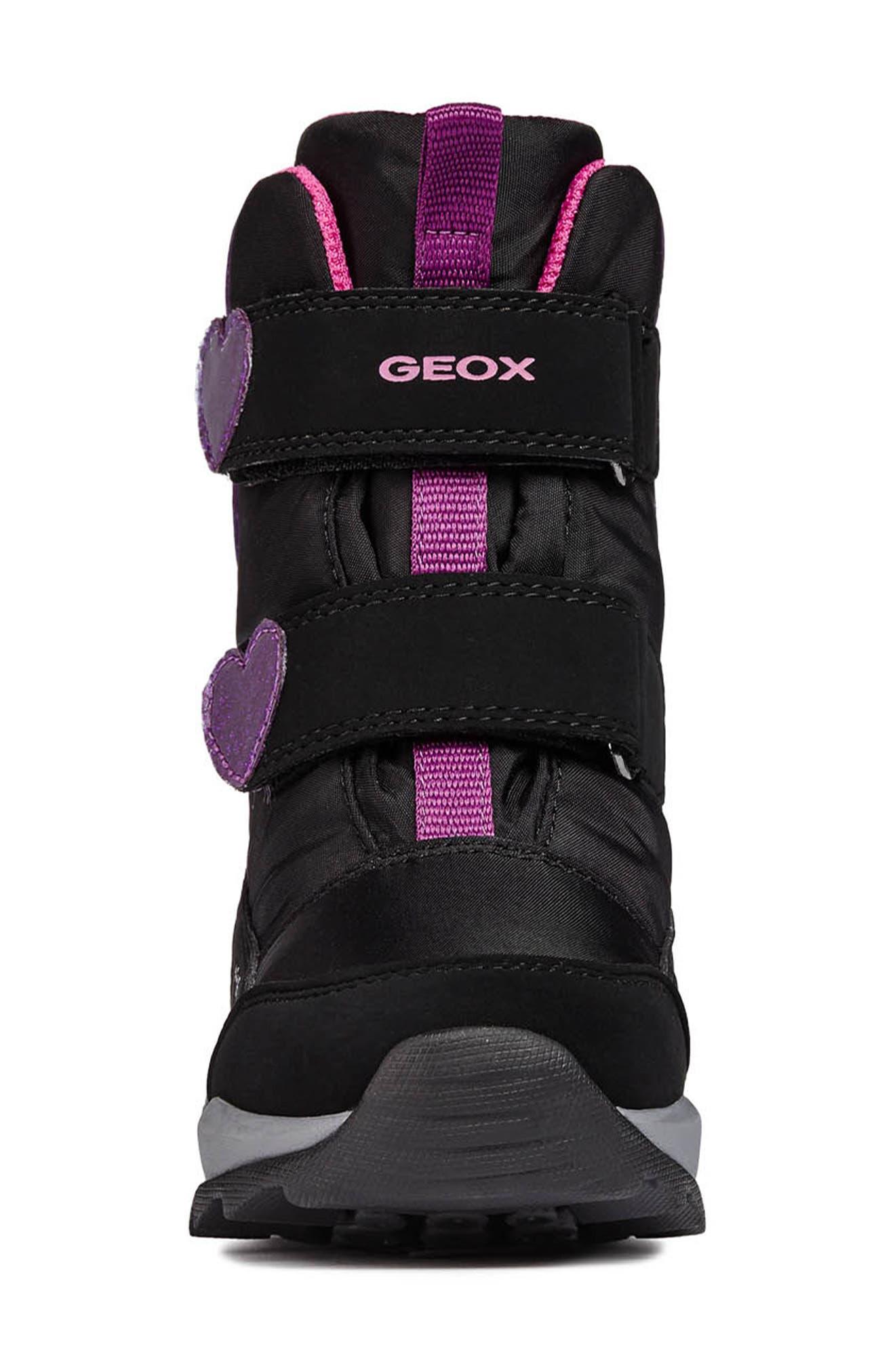 Orizont ABX Waterproof Boot,                             Alternate thumbnail 4, color,                             BLACK/FUCHSIA