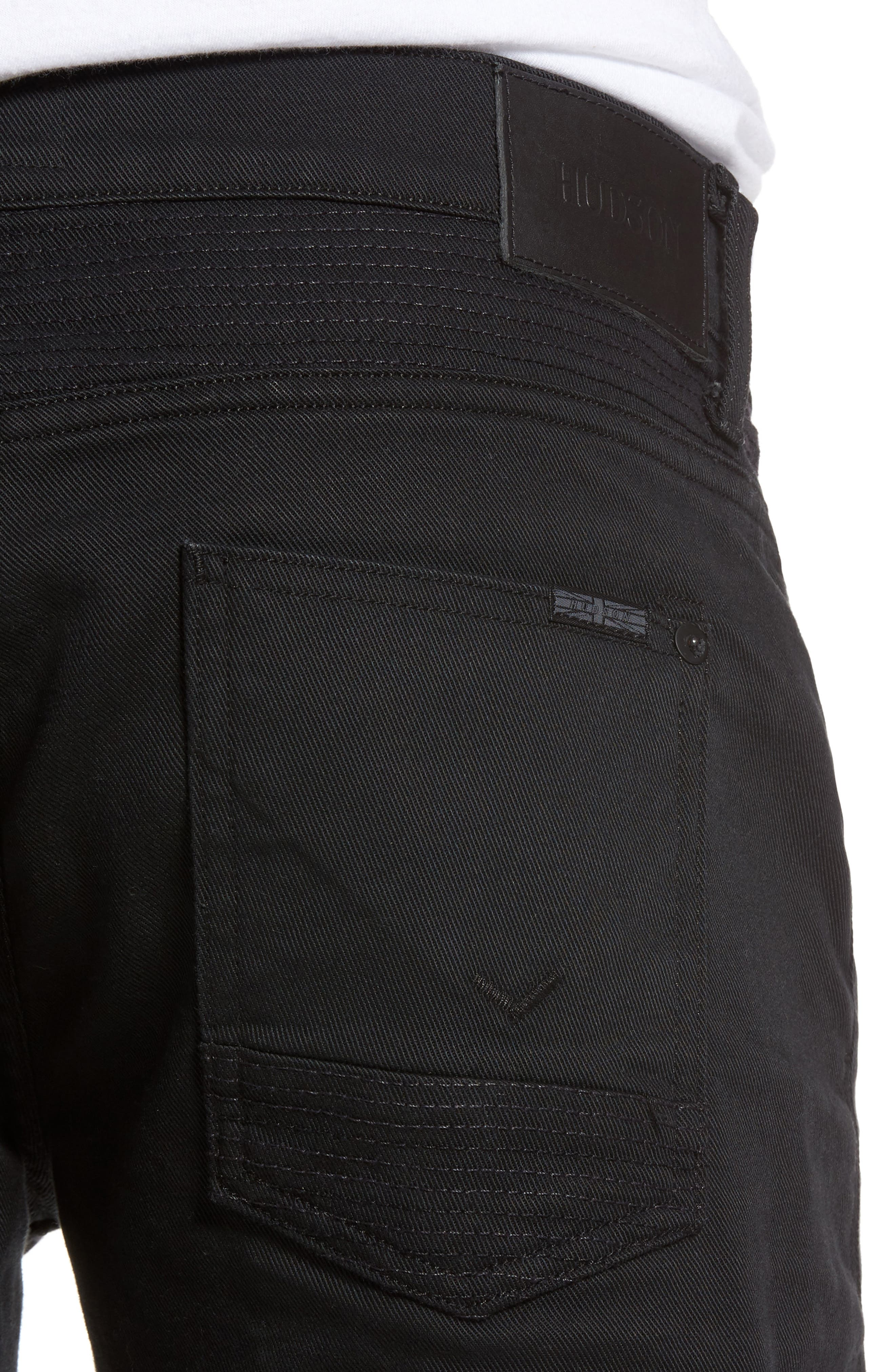Blinder Biker Skinny Fit Jeans,                             Alternate thumbnail 4, color,                             BLACKLIGHT
