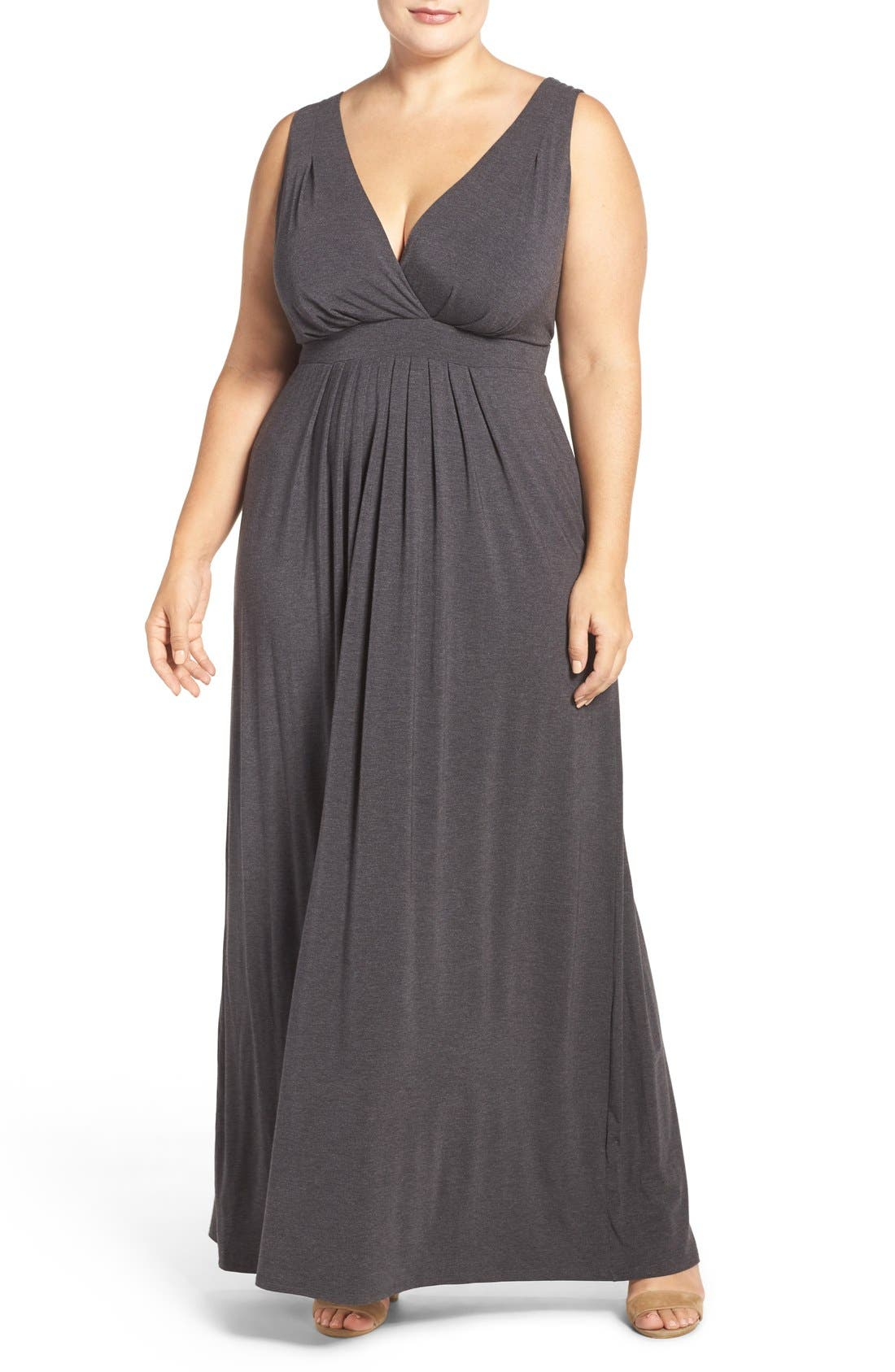 Chloe Empire Waist Maxi Dress,                             Main thumbnail 7, color,