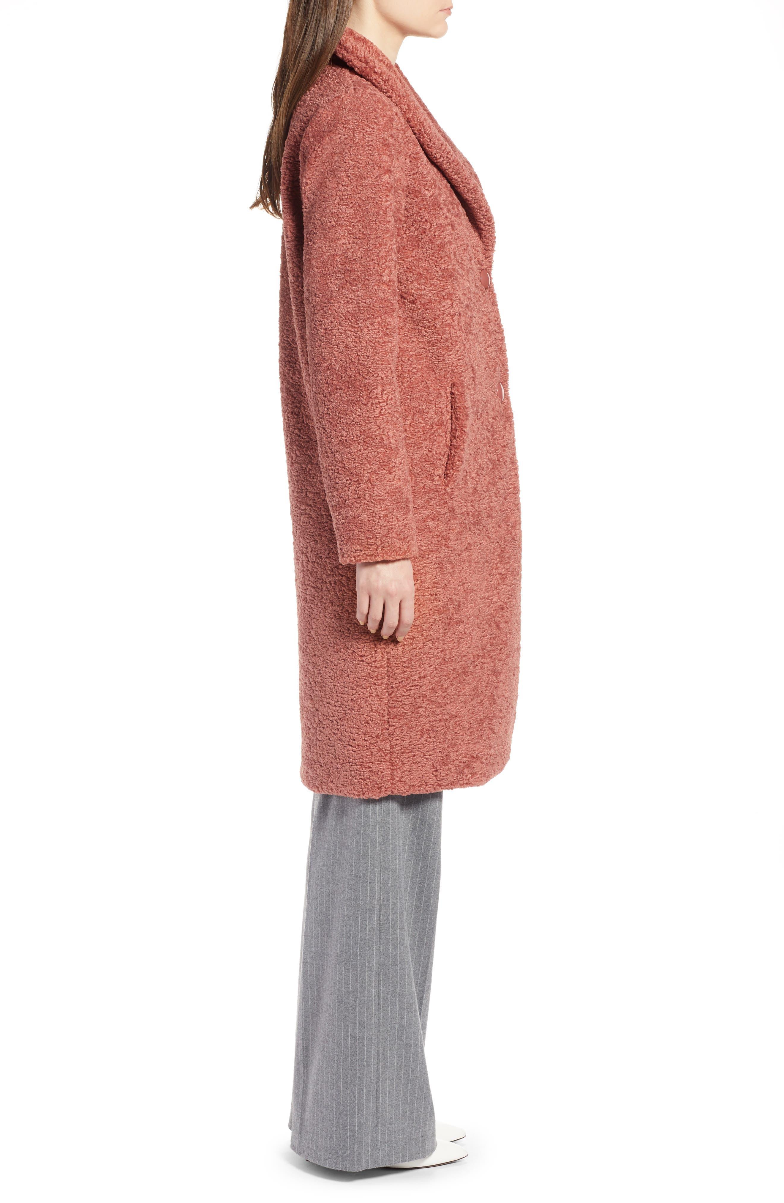 HALOGEN<SUP>®</SUP>,                             Faux Fur Coat,                             Alternate thumbnail 4, color,                             630