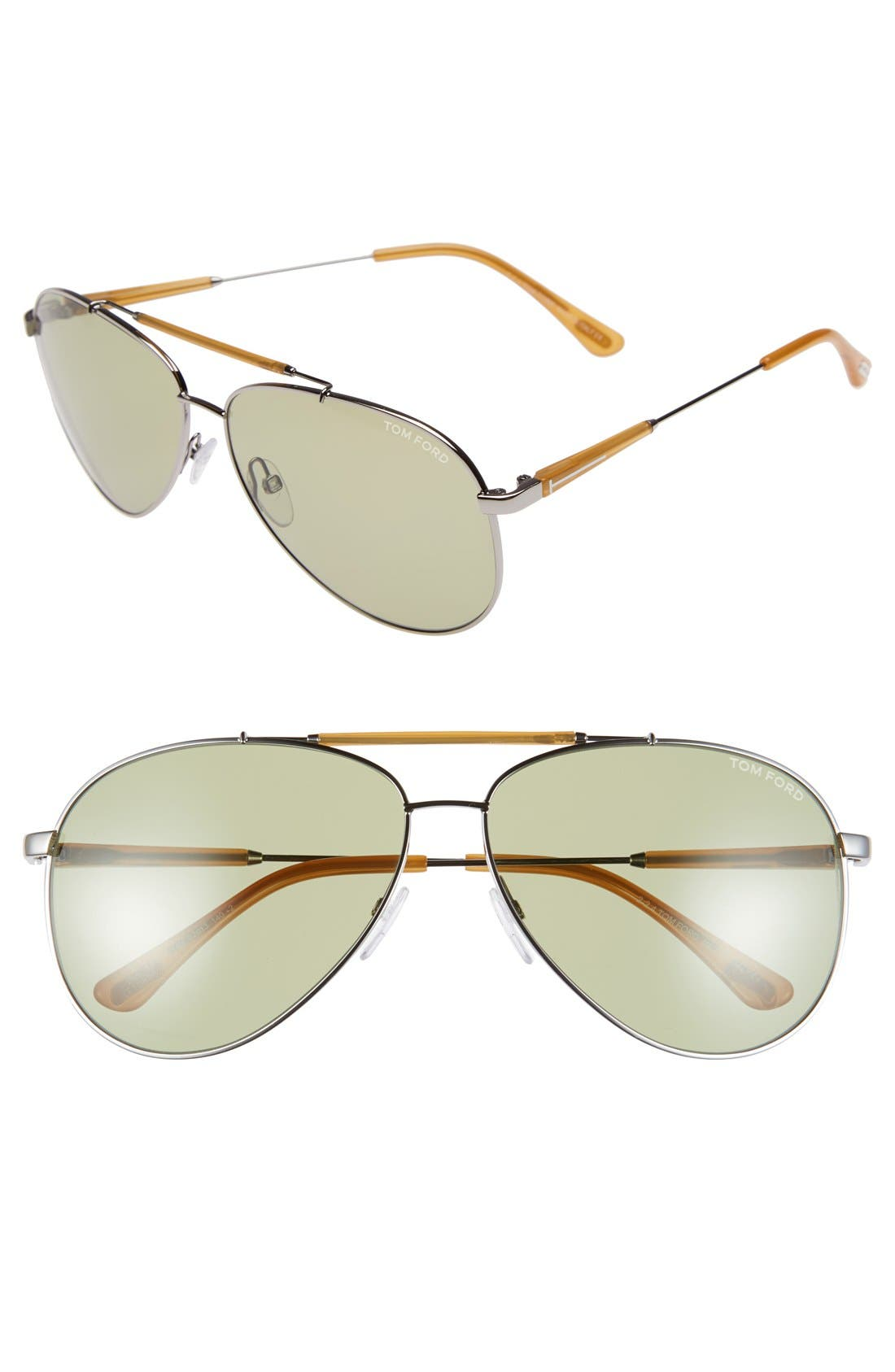 'Rick' 62mm Aviator Sunglasses,                         Main,                         color, 040