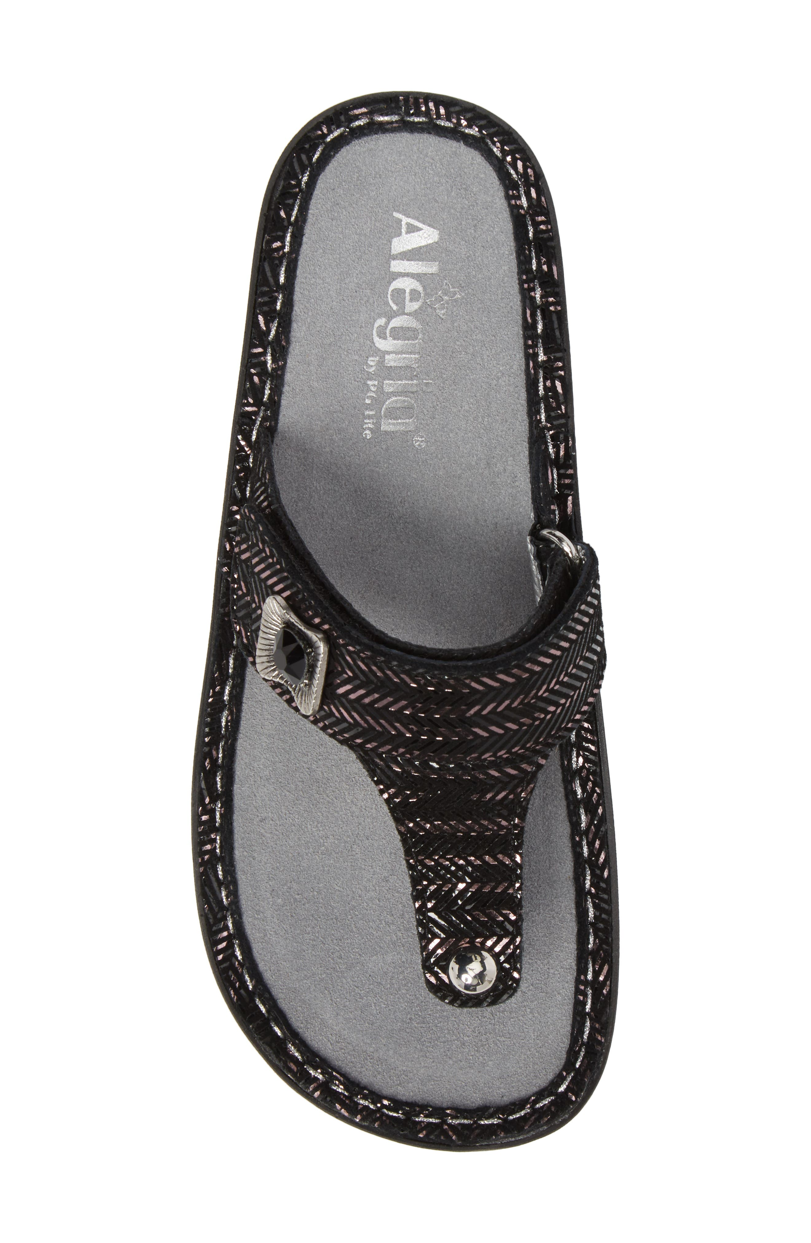 'Carina' Sandal,                             Alternate thumbnail 5, color,                             CHAINED BLACK LEATHER