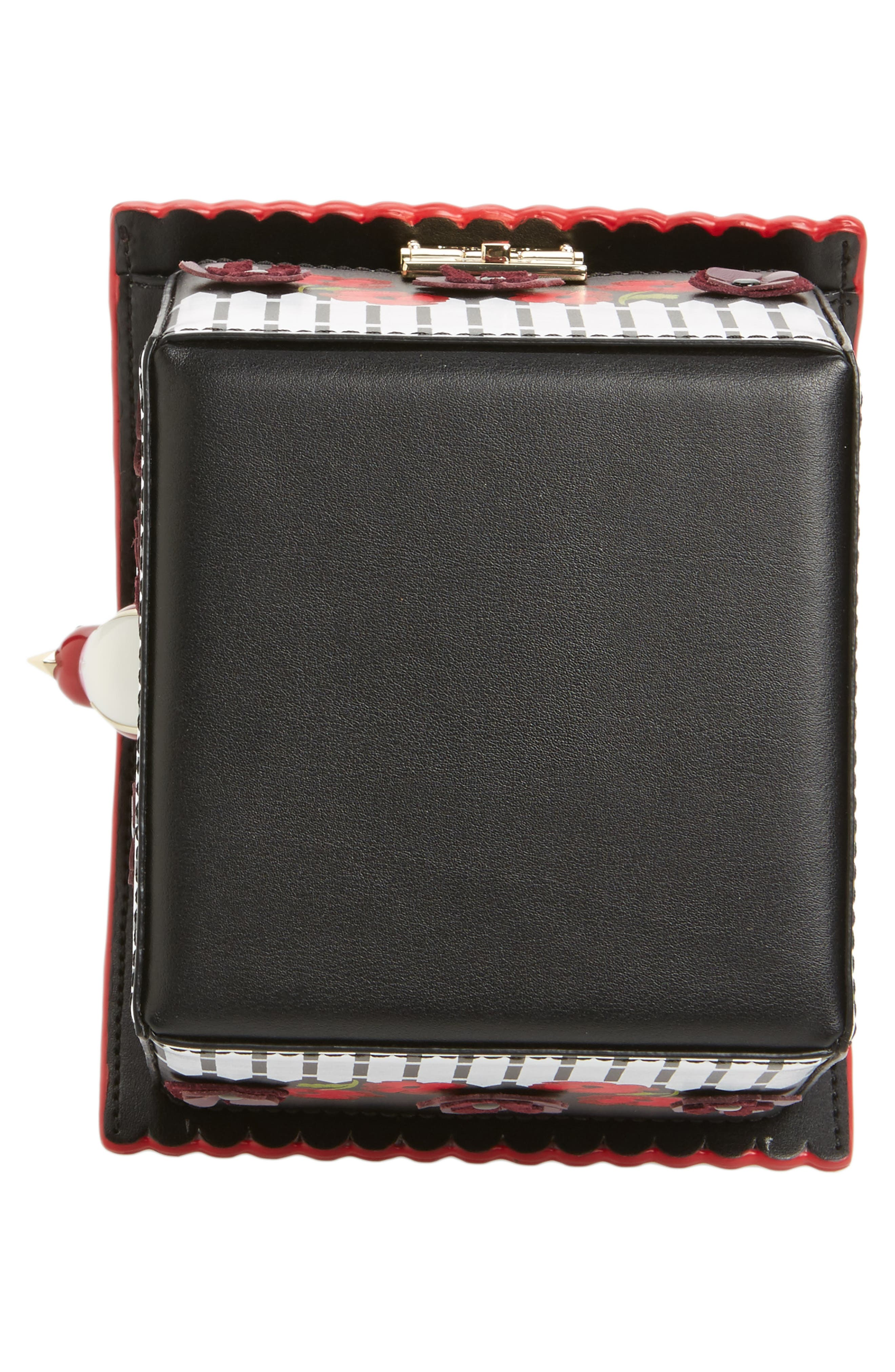 ooh la la cuckoo clock leather handbag,                             Alternate thumbnail 6, color,                             001