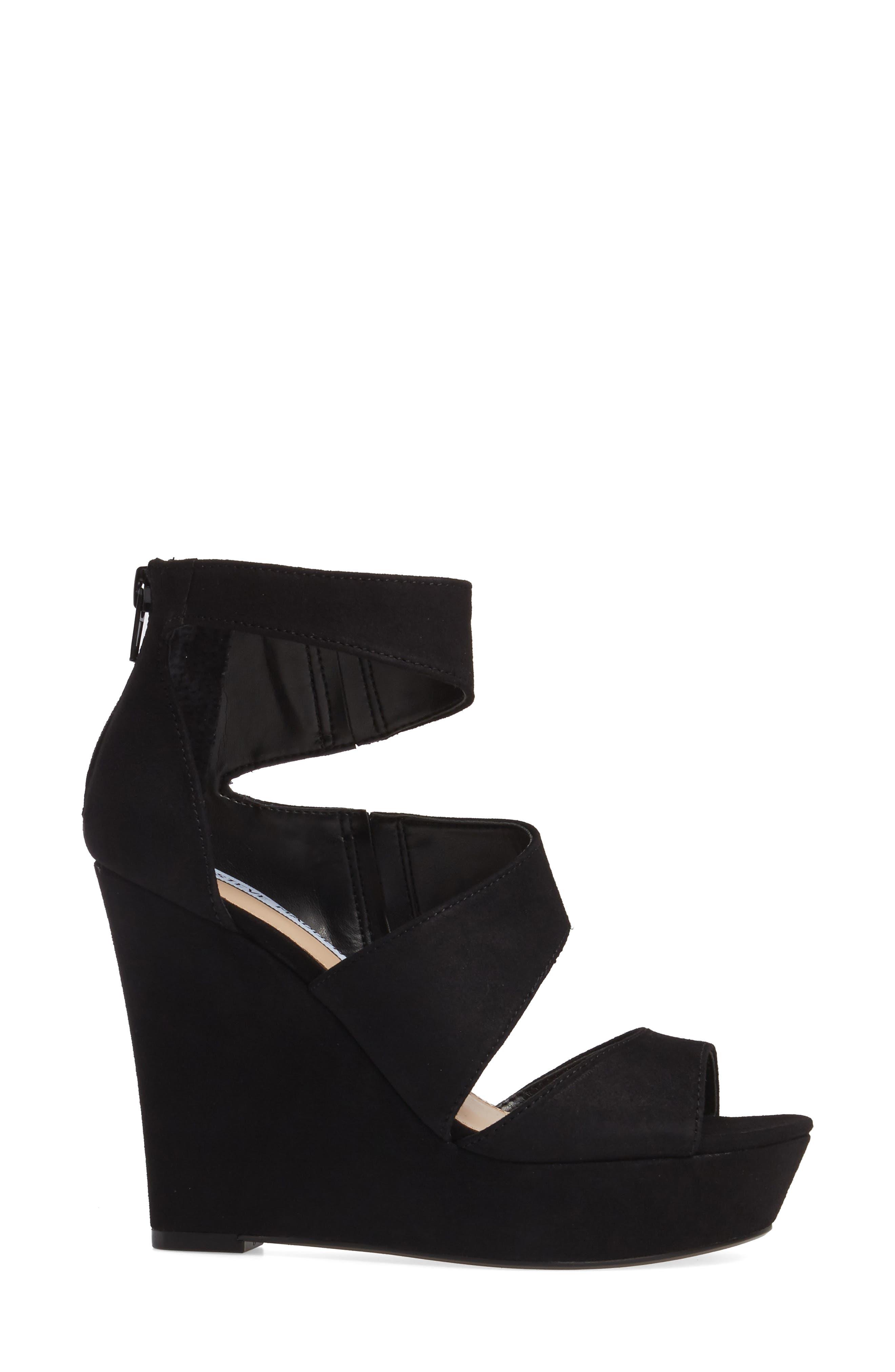 Essey Asymmetrical Platform Wedge Sandal,                             Alternate thumbnail 3, color,                             006