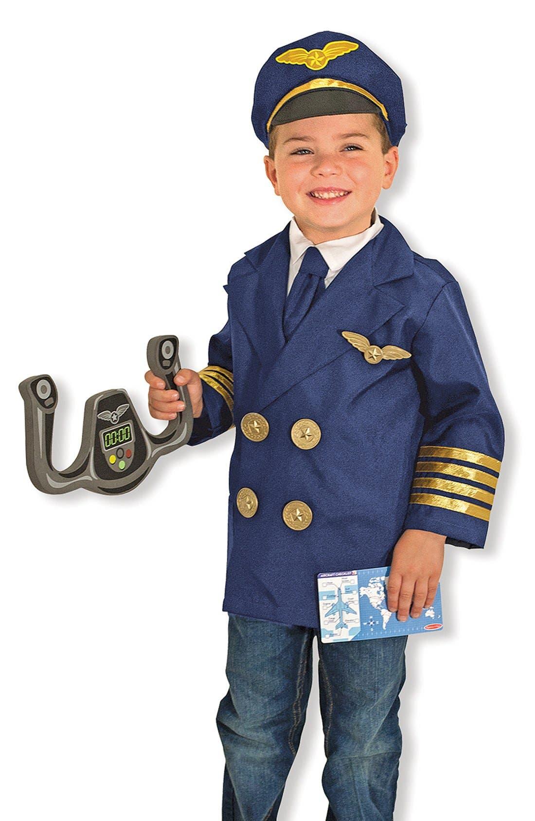Pilot Role Play Set,                             Main thumbnail 1, color,                             BLUE