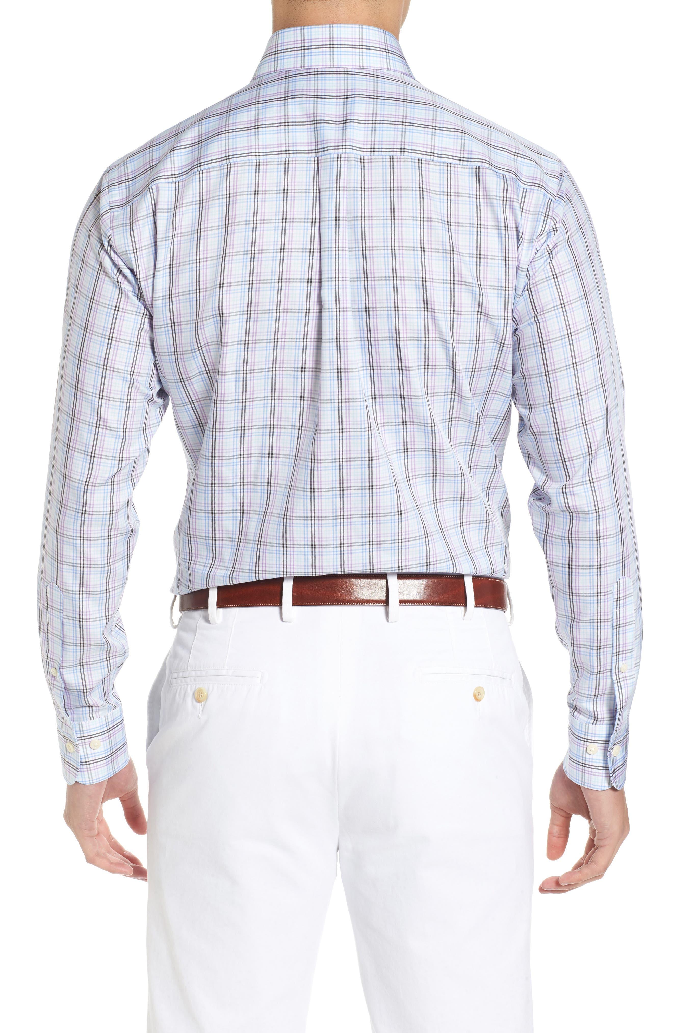 Crown Soft Daybreak Regular Fit Check Sport Shirt,                             Alternate thumbnail 2, color,                             422