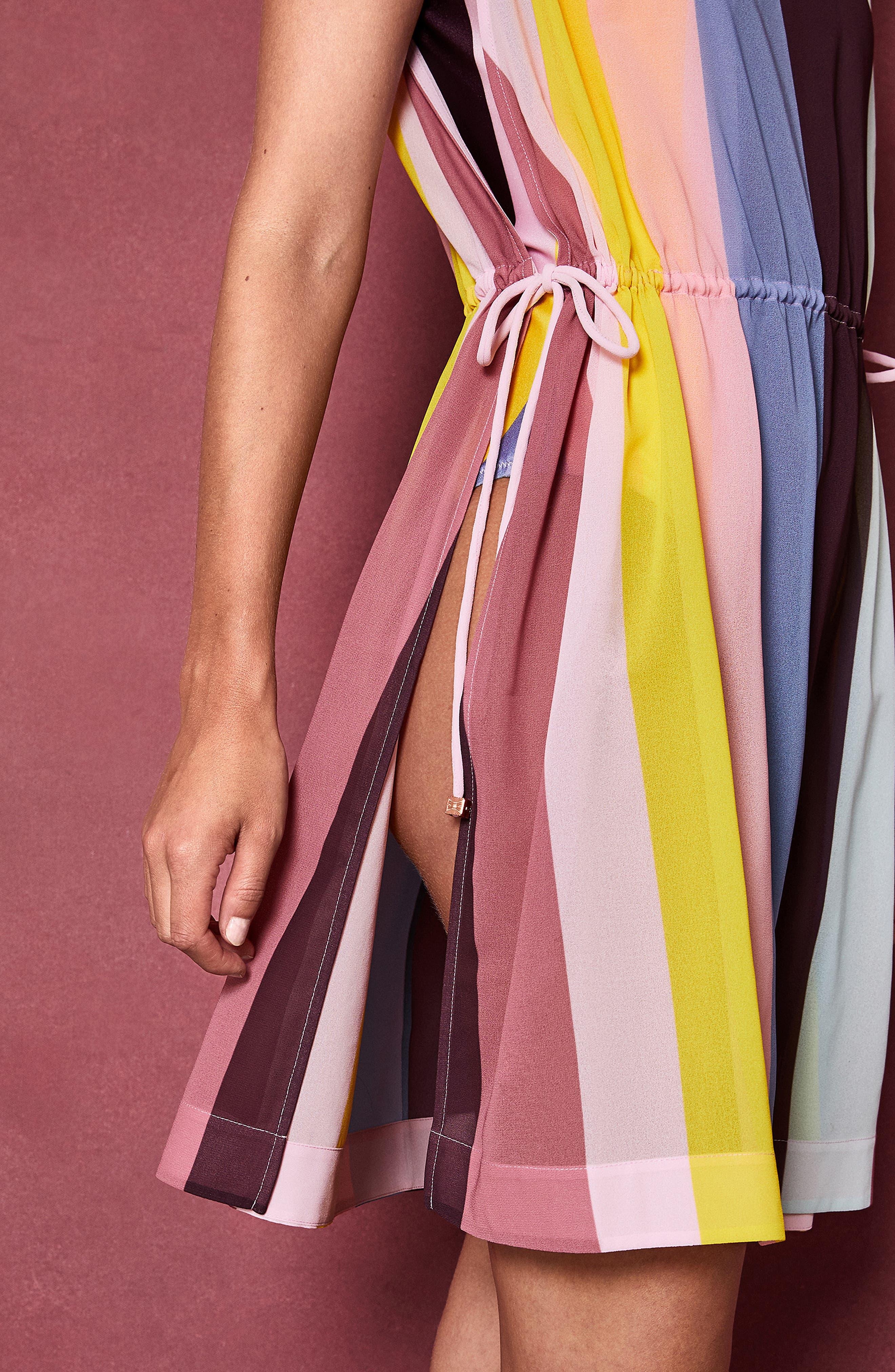 Penaree Rio Stripe Tabbard Cover-Up,                             Alternate thumbnail 8, color,                             683