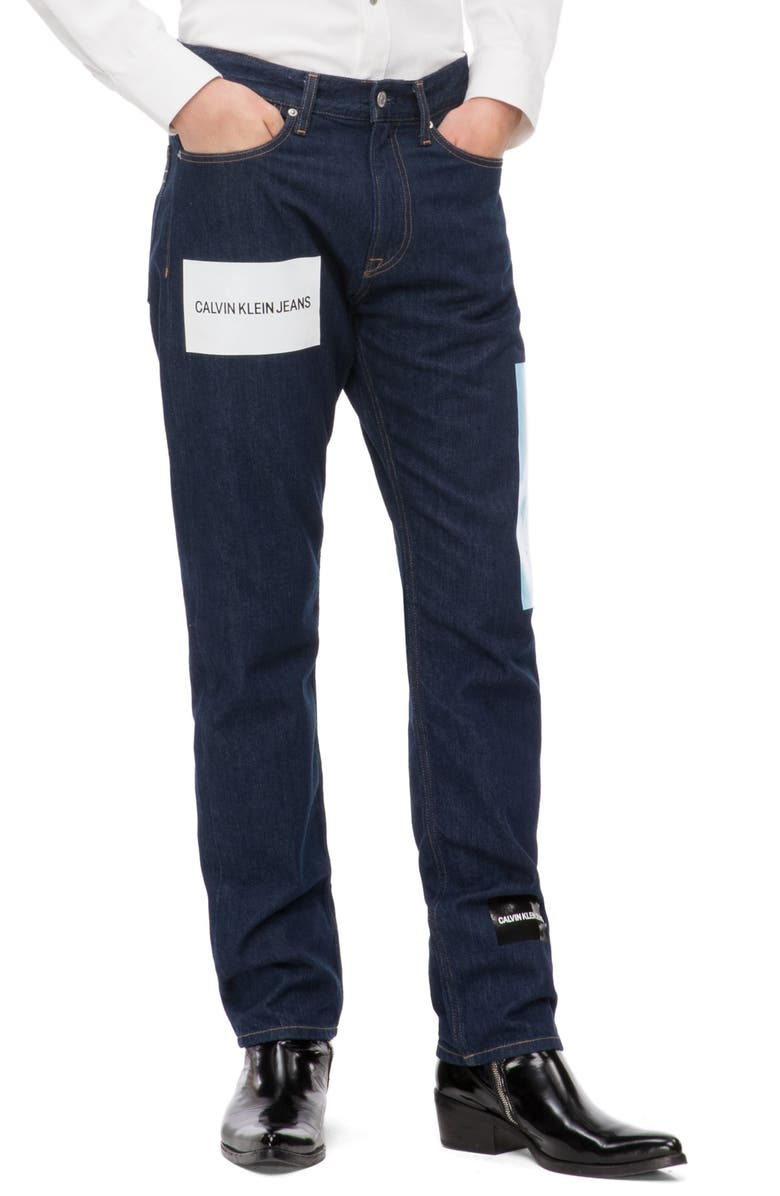 Calvin Klein Jeans Est.1978 LOGO PRINT STRAIGHT LEG JEANS