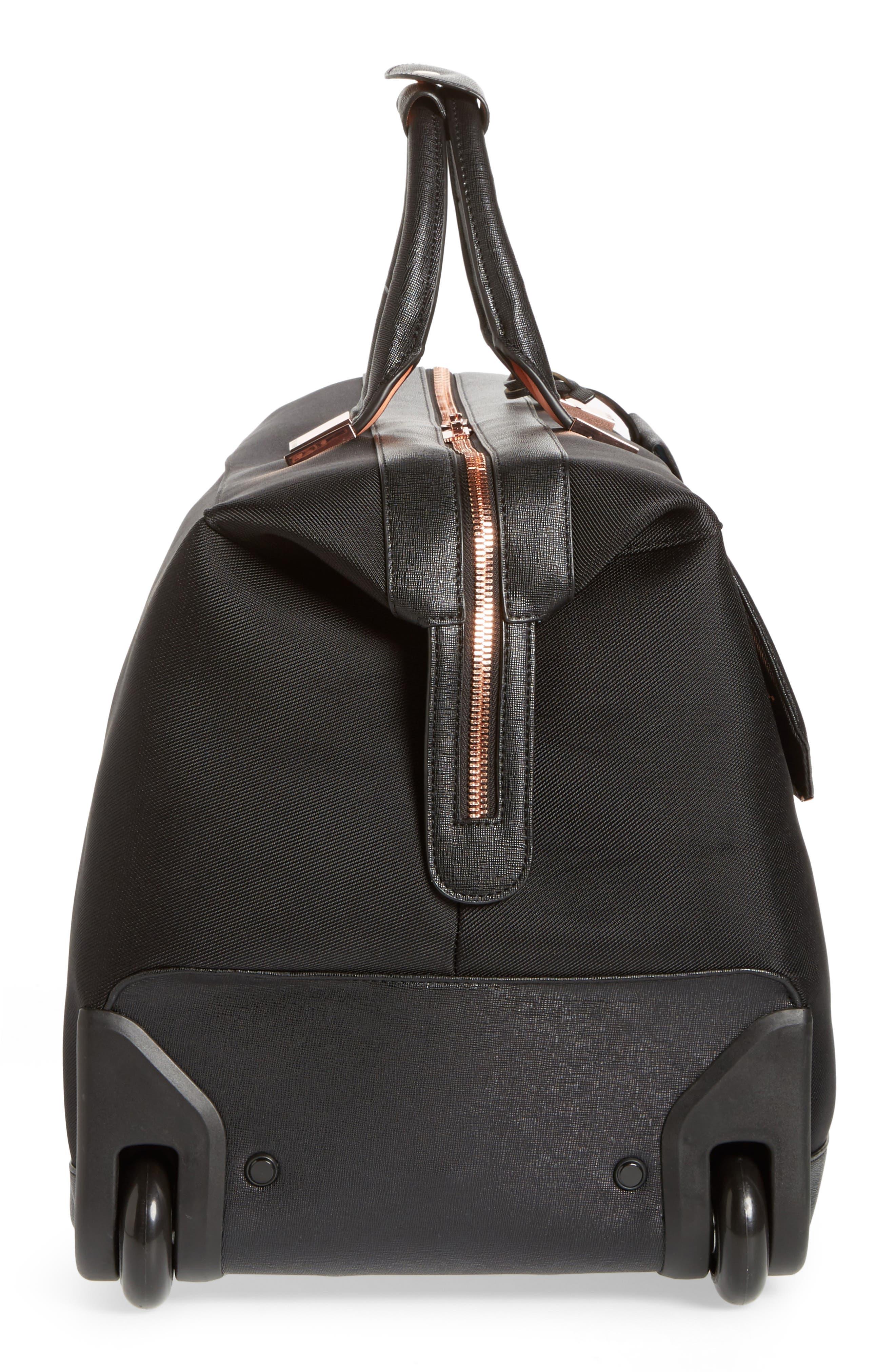 Large Albany Rolling Duffel Bag,                             Alternate thumbnail 3, color,                             BLACK