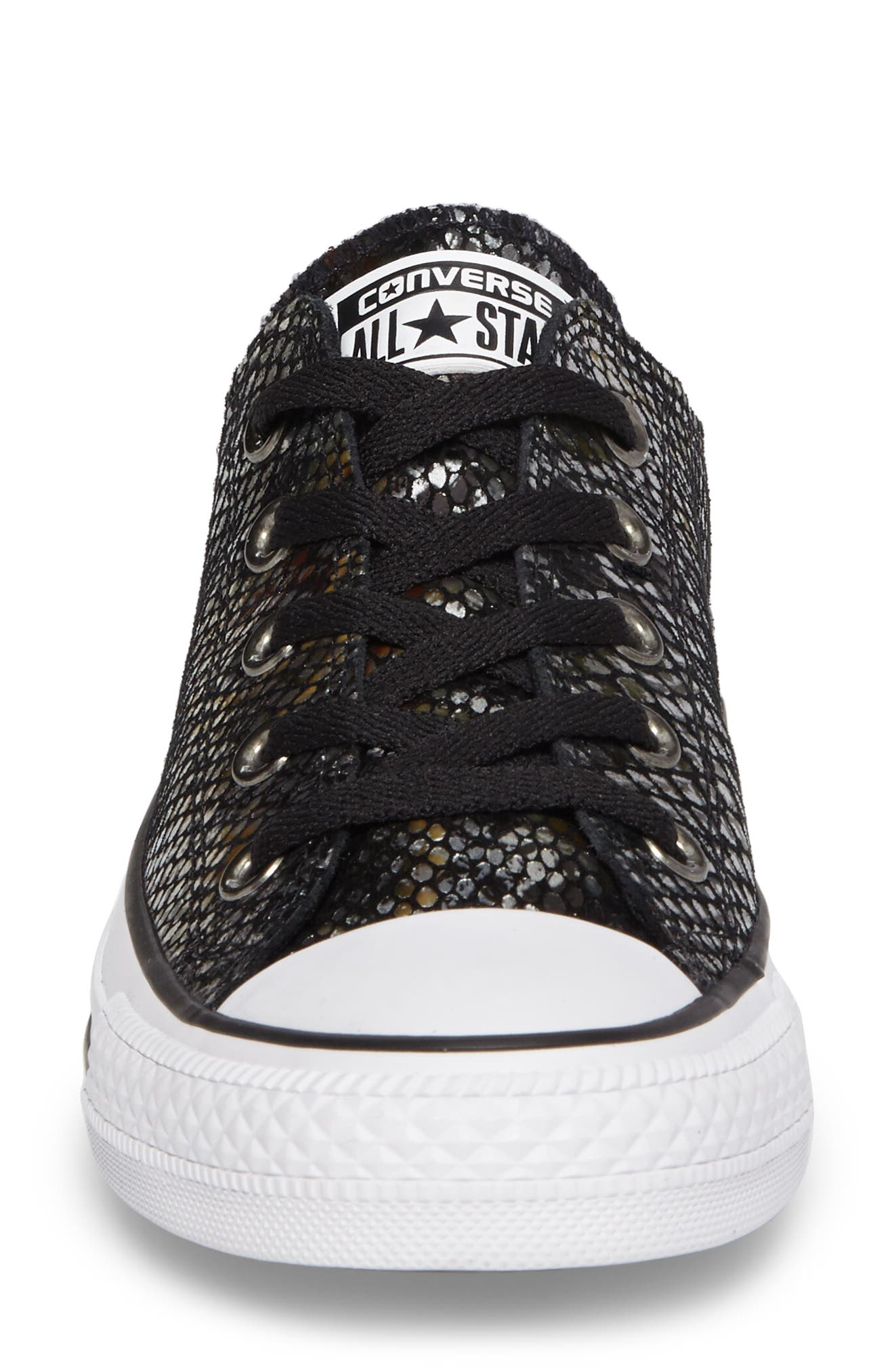 Chuck Taylor<sup>®</sup> All Star<sup>®</sup> Ox Leather Sneaker,                             Alternate thumbnail 4, color,                             001