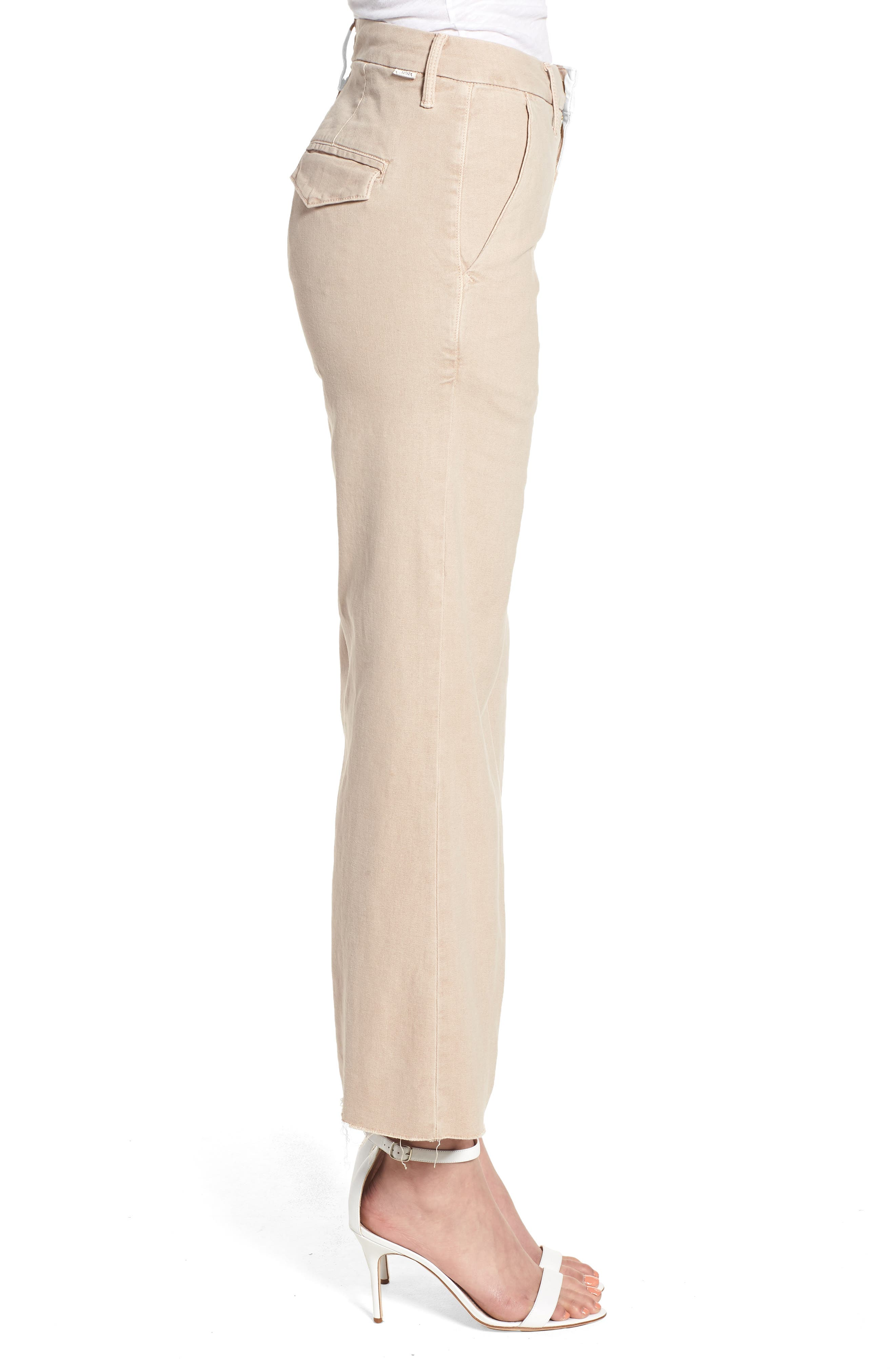 The Roller Fray Crop Wide Leg Jeans,                             Alternate thumbnail 3, color,                             250