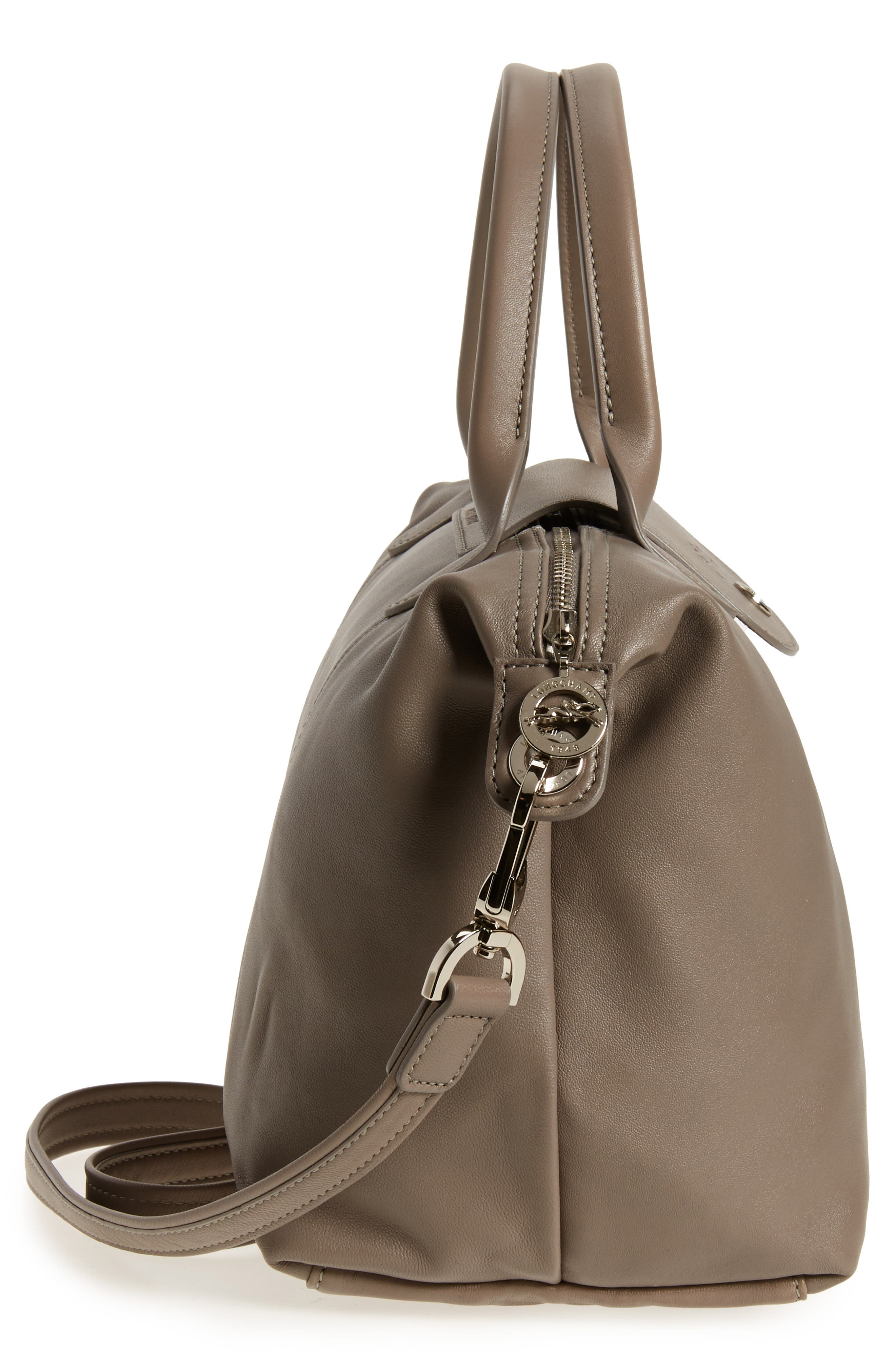 Small 'Le Pliage Cuir' Leather Top Handle Tote,                             Alternate thumbnail 69, color,