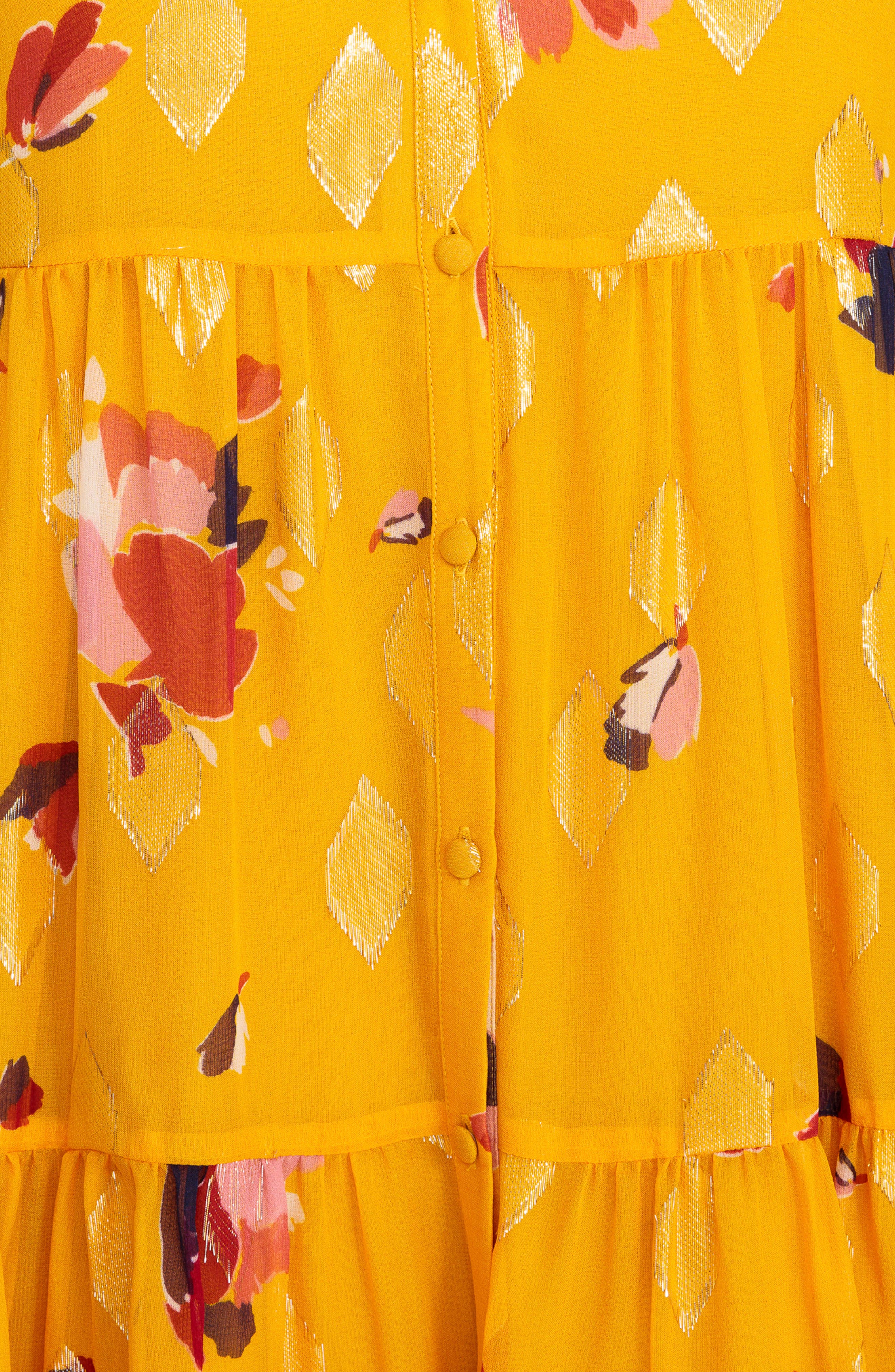Aure Silk A-Line Dress,                             Alternate thumbnail 13, color,